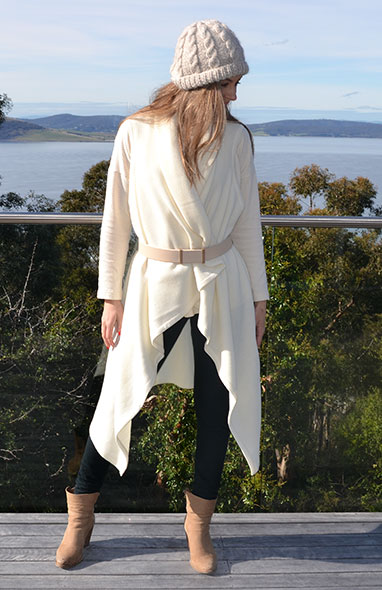 Ivory Sleeveless Wrap