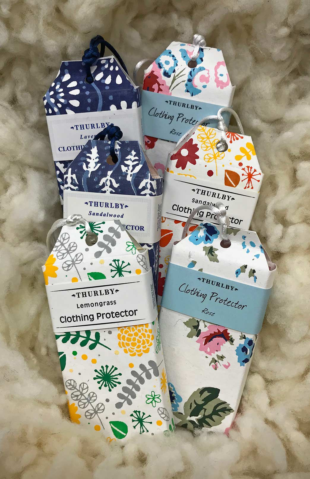 Herbal Clothing Protector - Essential Oil Infused Fragrant Herbal Block Hanging Clothing Protector - Smitten Merino Tasmania Australia
