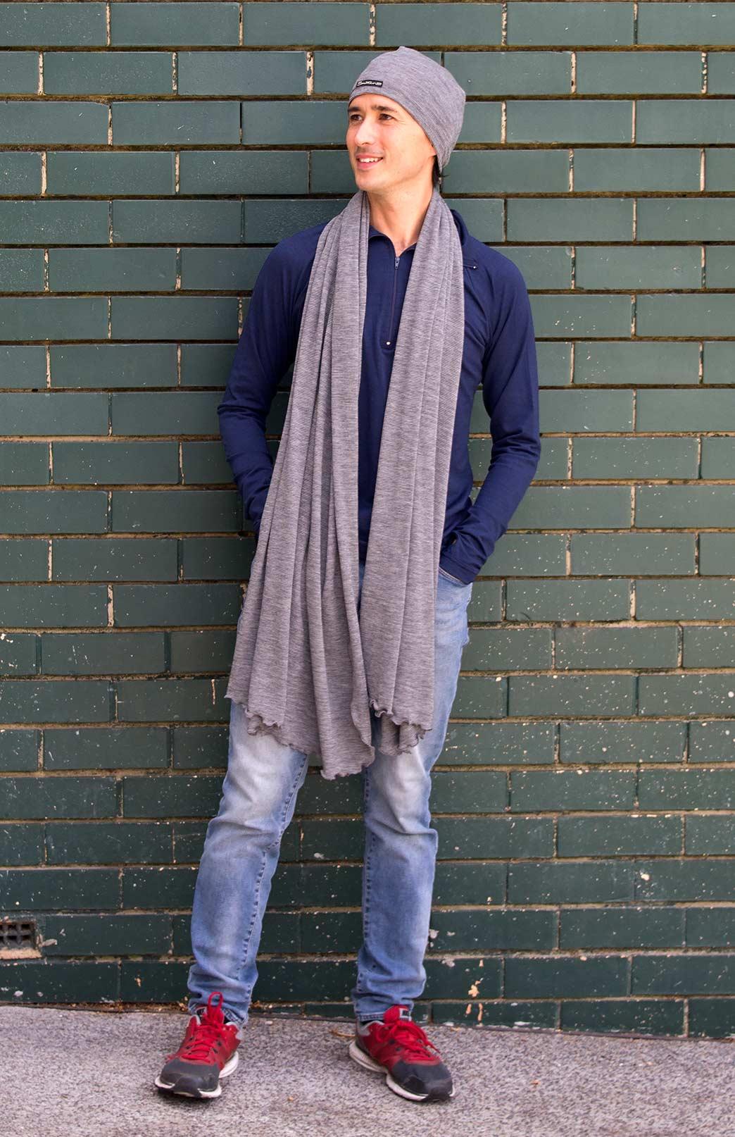 Matching Scarf & Beanie Set - Superfine Merino Wool Matching Scarf and Thermal Beanie Set - Smitten Merino Tasmania Australia