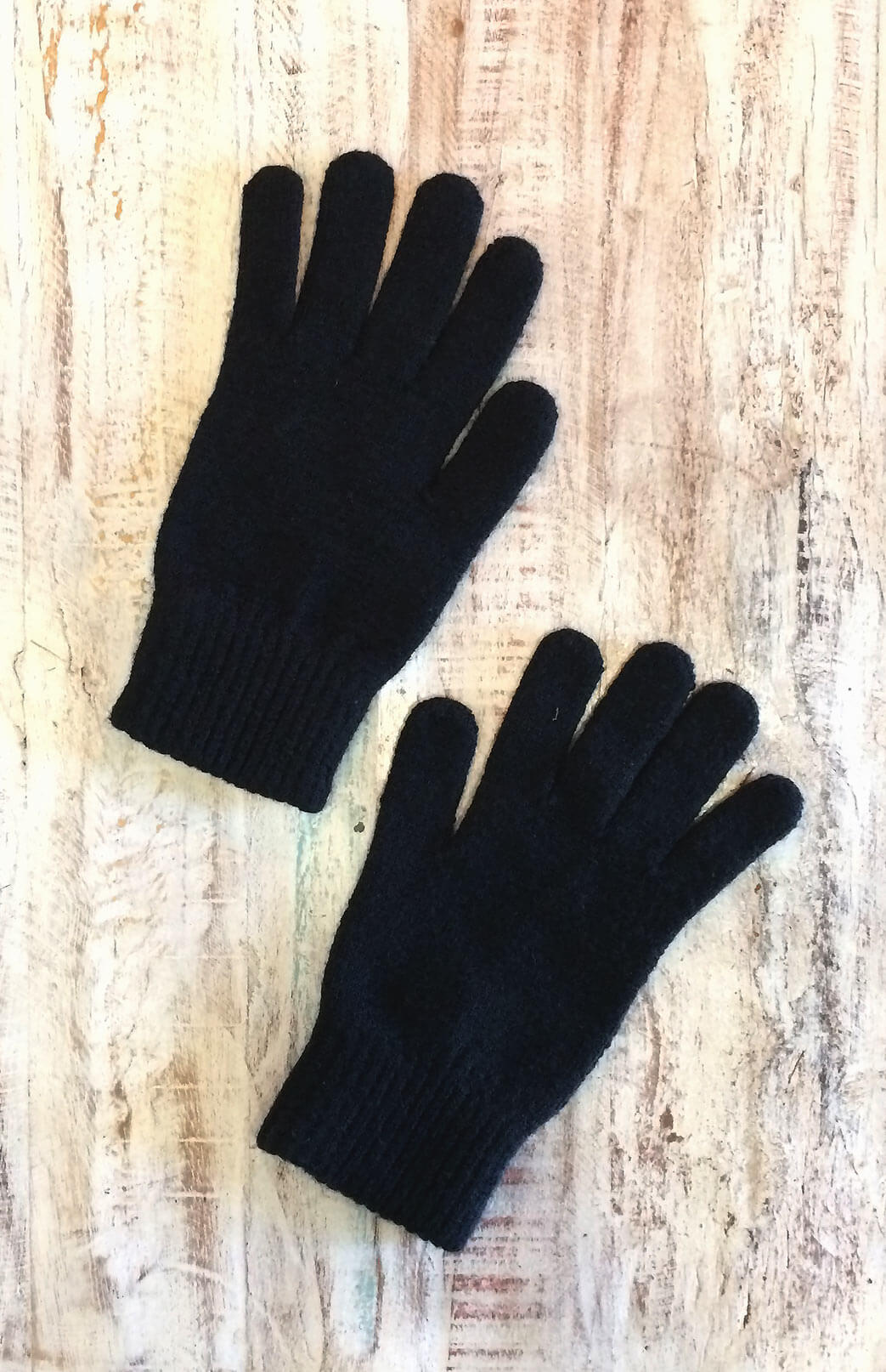 Merino Wool Gloves - Merino Wool Thermal Full Finger Gloves - Smitten Merino Tasmania Australia