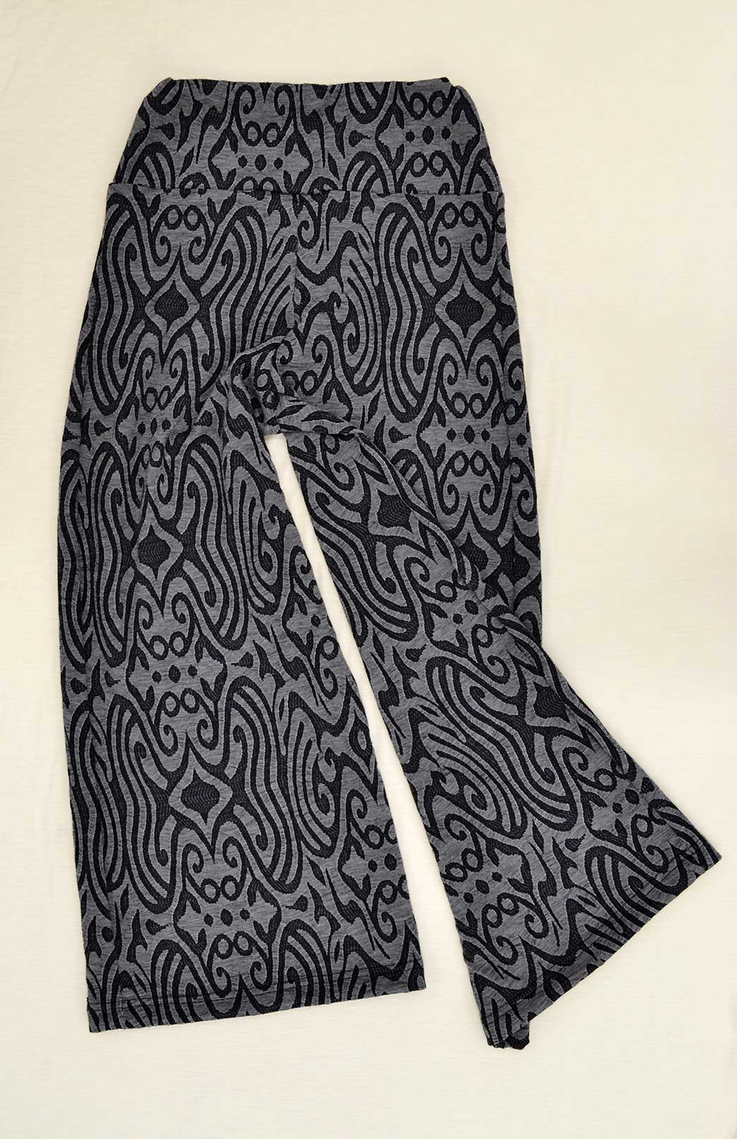 Wide Leg Crop Pant - Women's wool crop pants with wide legs and wide waistband - Smitten Merino Tasmania Australia