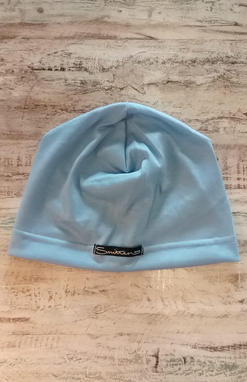 Lightweight Beanie (~170g) - Light Blue Merino Wool Lightweight Unisex Beanie for Bike Riding and Outdoor Sports - Smitten Merino Tasmania Australia