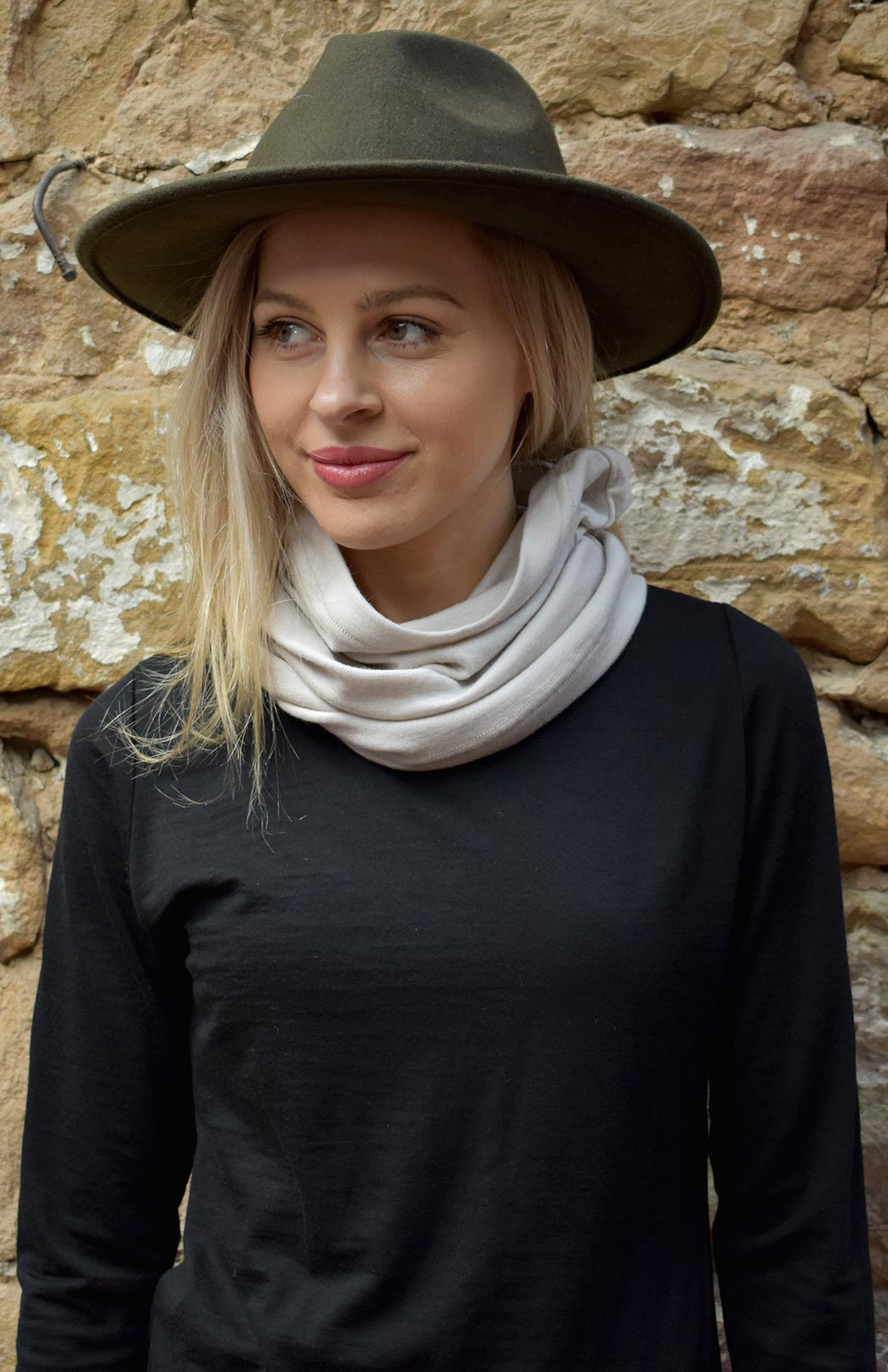 Thermal Neck Warmer - Merino Wool Multi Purpose Thermal Neck Warmer, Snood, Buff - Smitten Merino Tasmania Australia