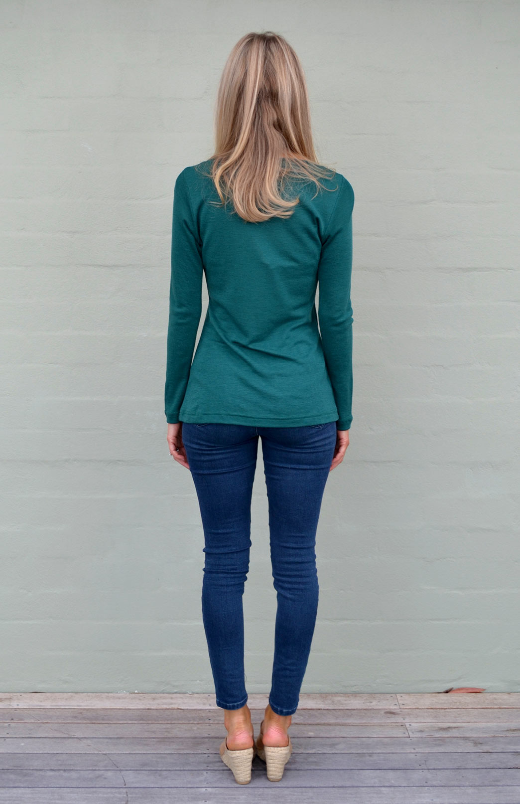 d13e0ab9922059 ... Emerald Green V-Neck. Enlarge