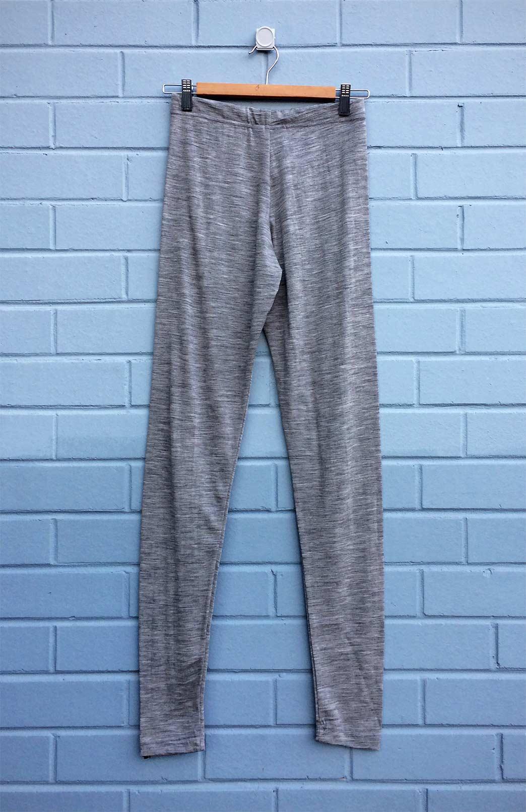 Men's Leggings - 180g - Mens Light Grey Lightweight 100% Superfine Merino Wool Thermal Leggings - Smitten Merino Tasmania Australia