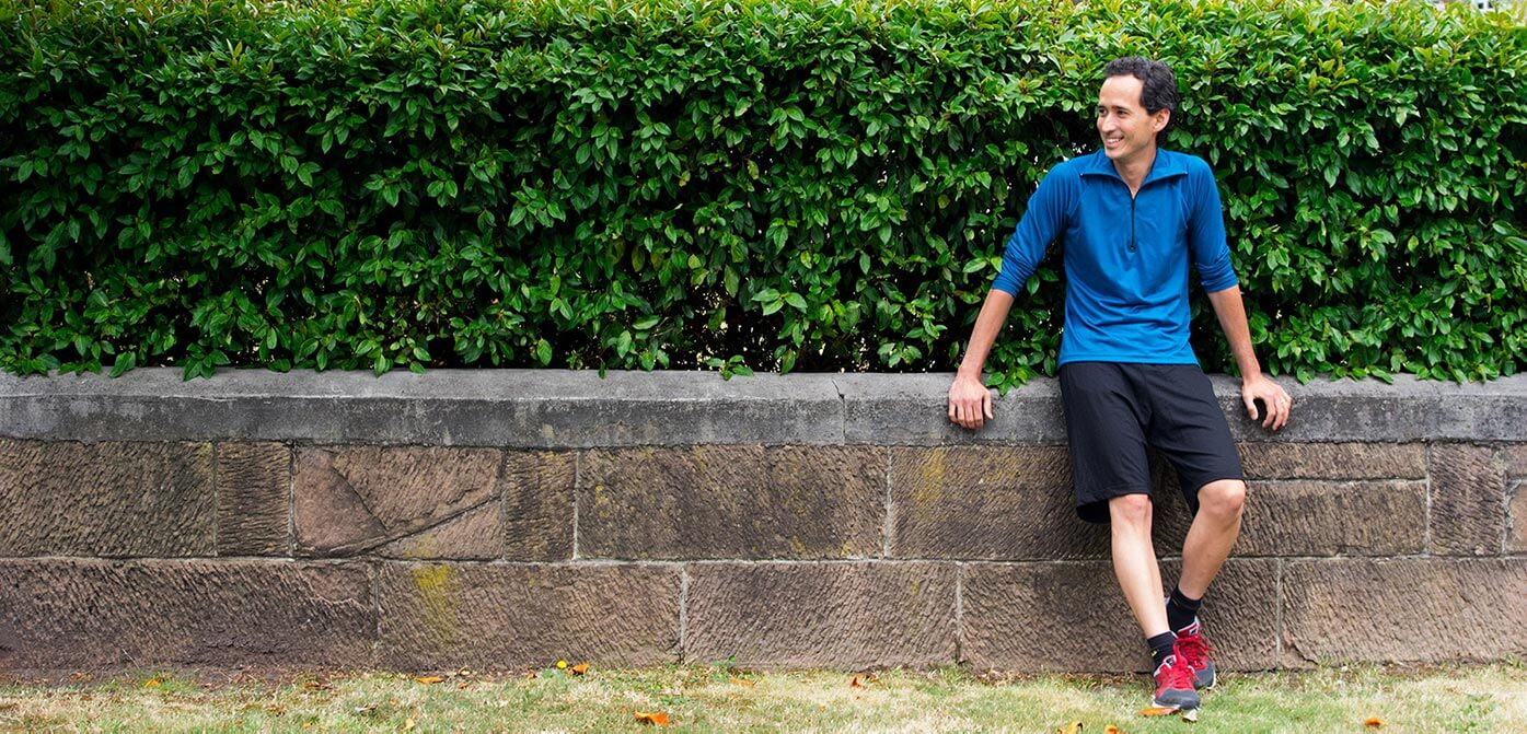 Our model wearing Merino Wool Sports and Outdoor Shorts
