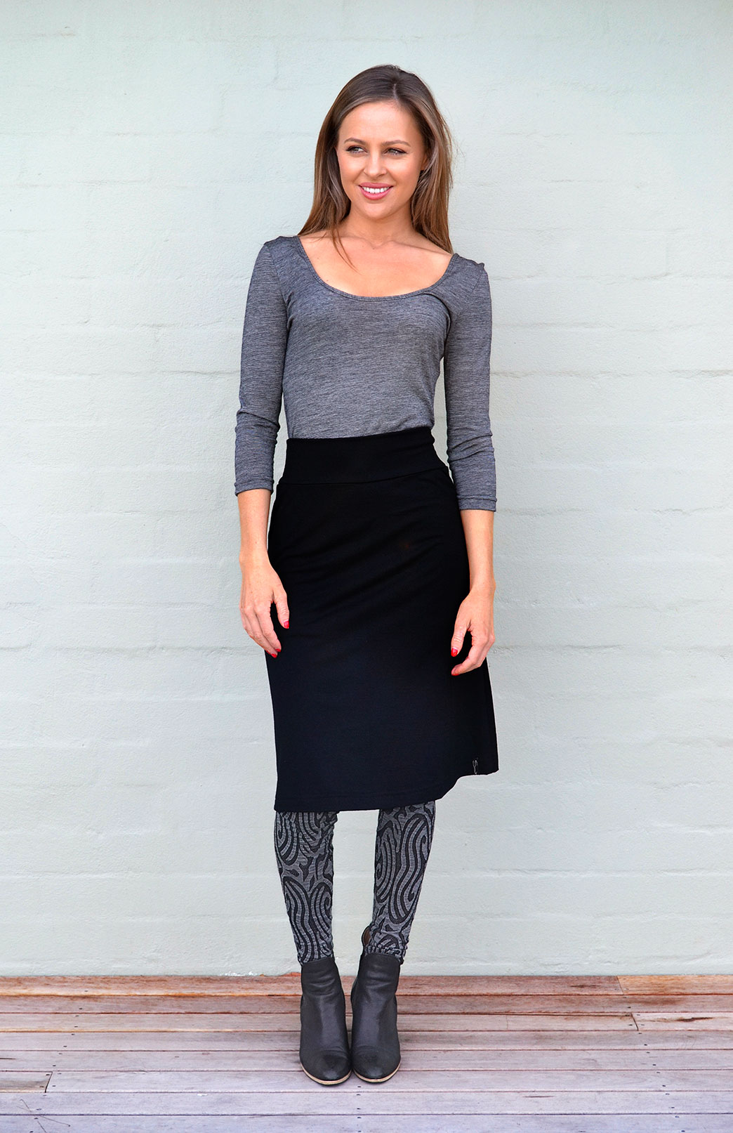 A-line Skirt in Black