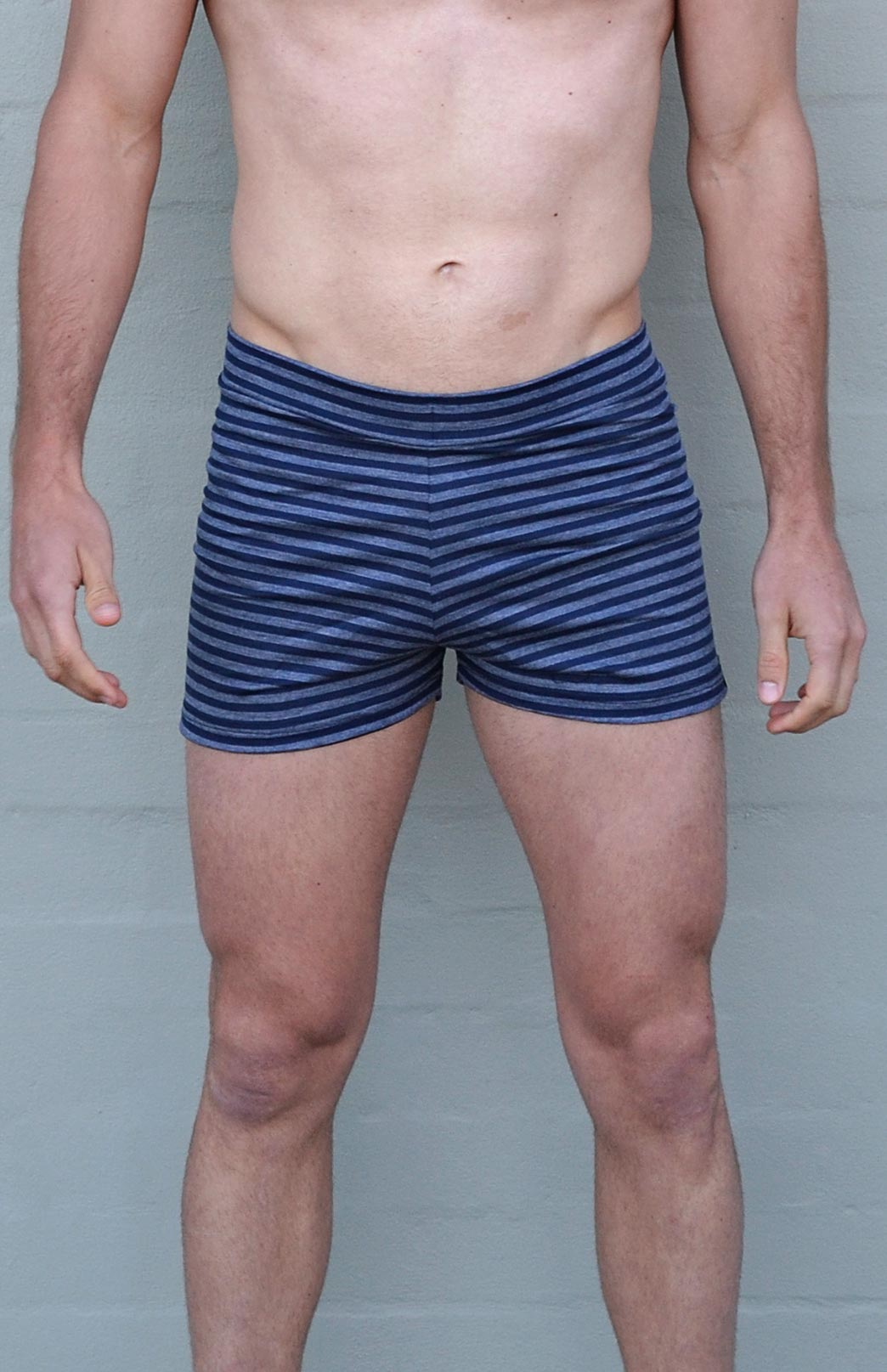Men's Blue Stripe Boxer Shorts (Size M)