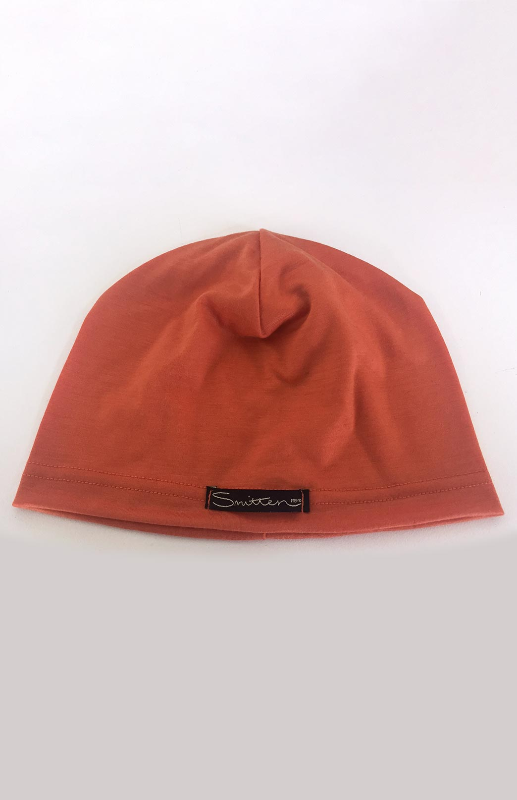 Merino Wool Beanie in Orange