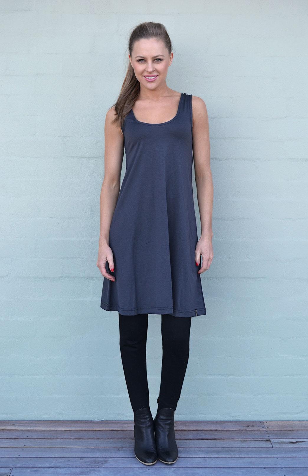 Swing Dress - Smitten Merino Tasmania Australia