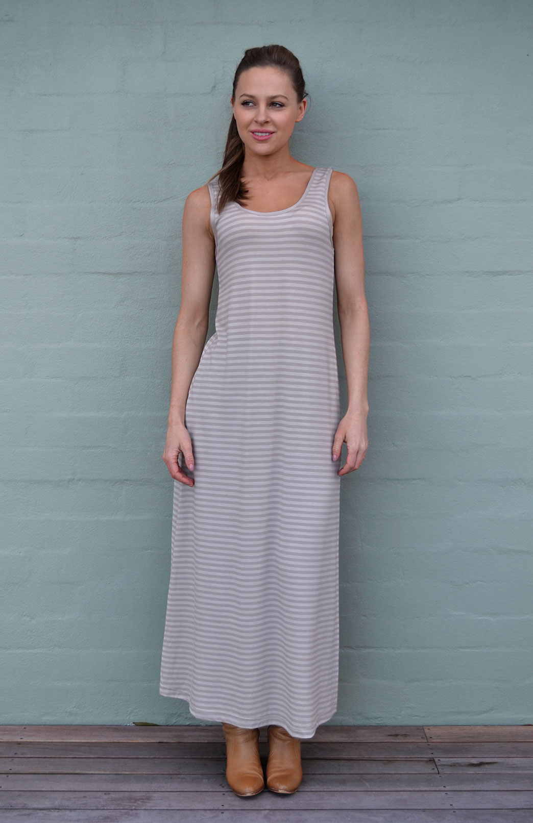Patterned Maxi Dress - Smitten Merino Tasmania Australia