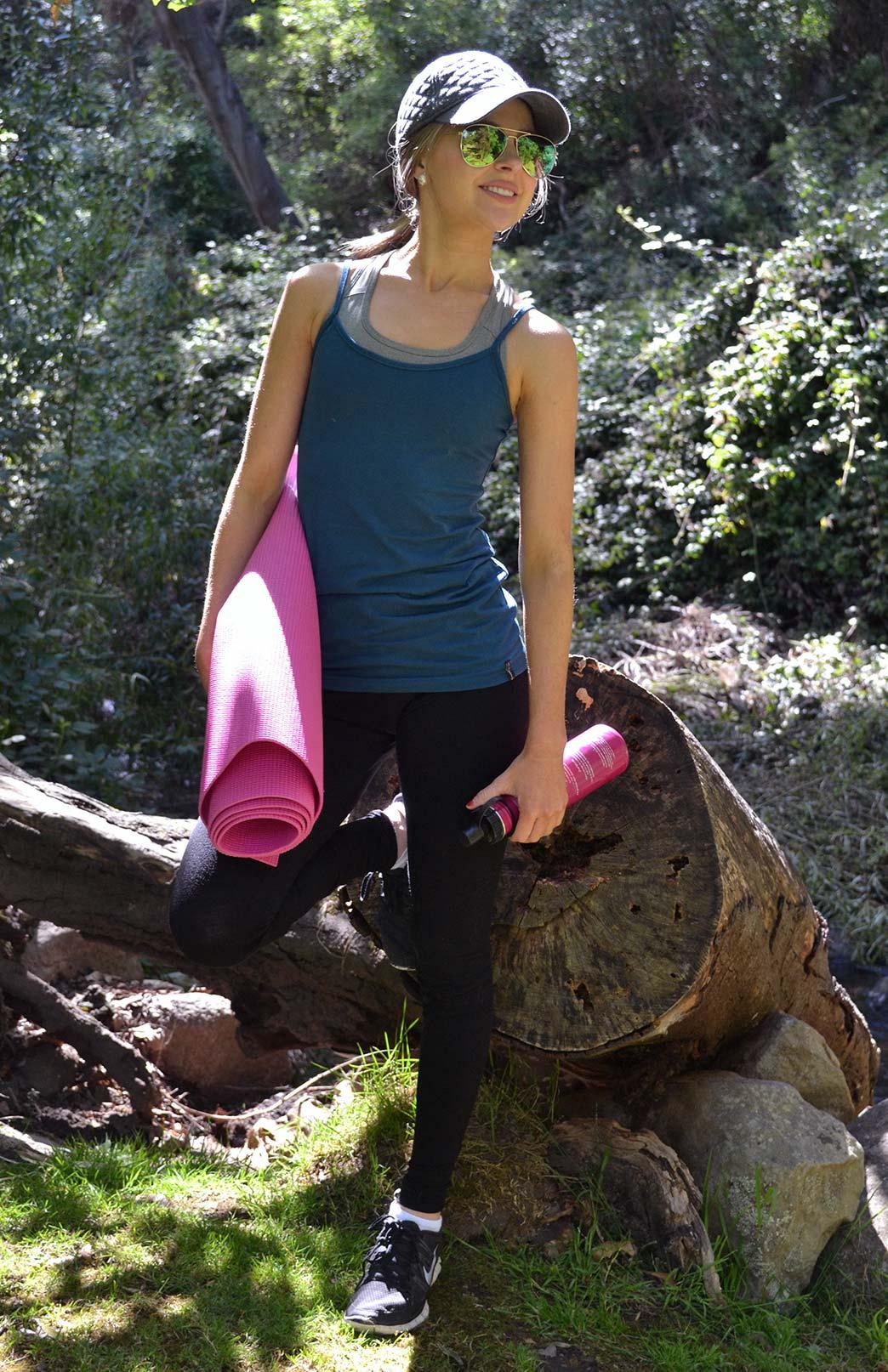 Camisole Top - Women's Wool Storm Teal Camisole Layering Thermal Tank Top - Smitten Merino Tasmania Australia