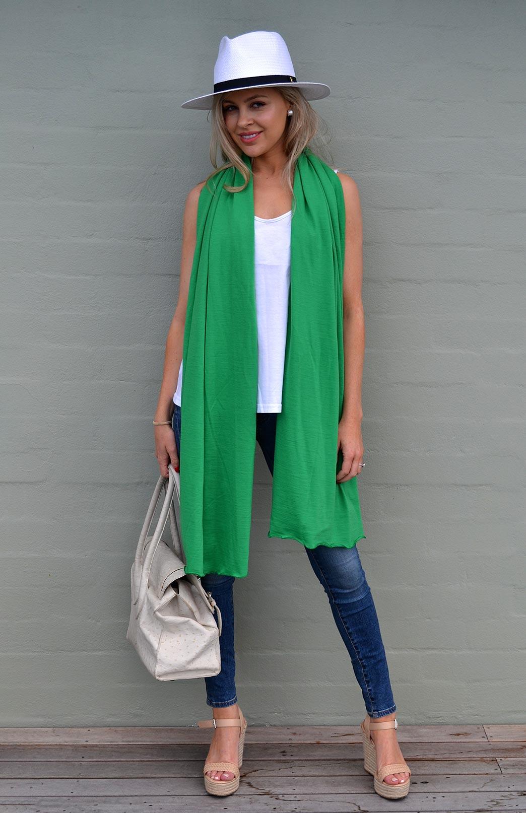 Scarves - Lightweight - Women's Superfine Merino Wool Classic Wide Scarf - Smitten Merino Tasmania Australia