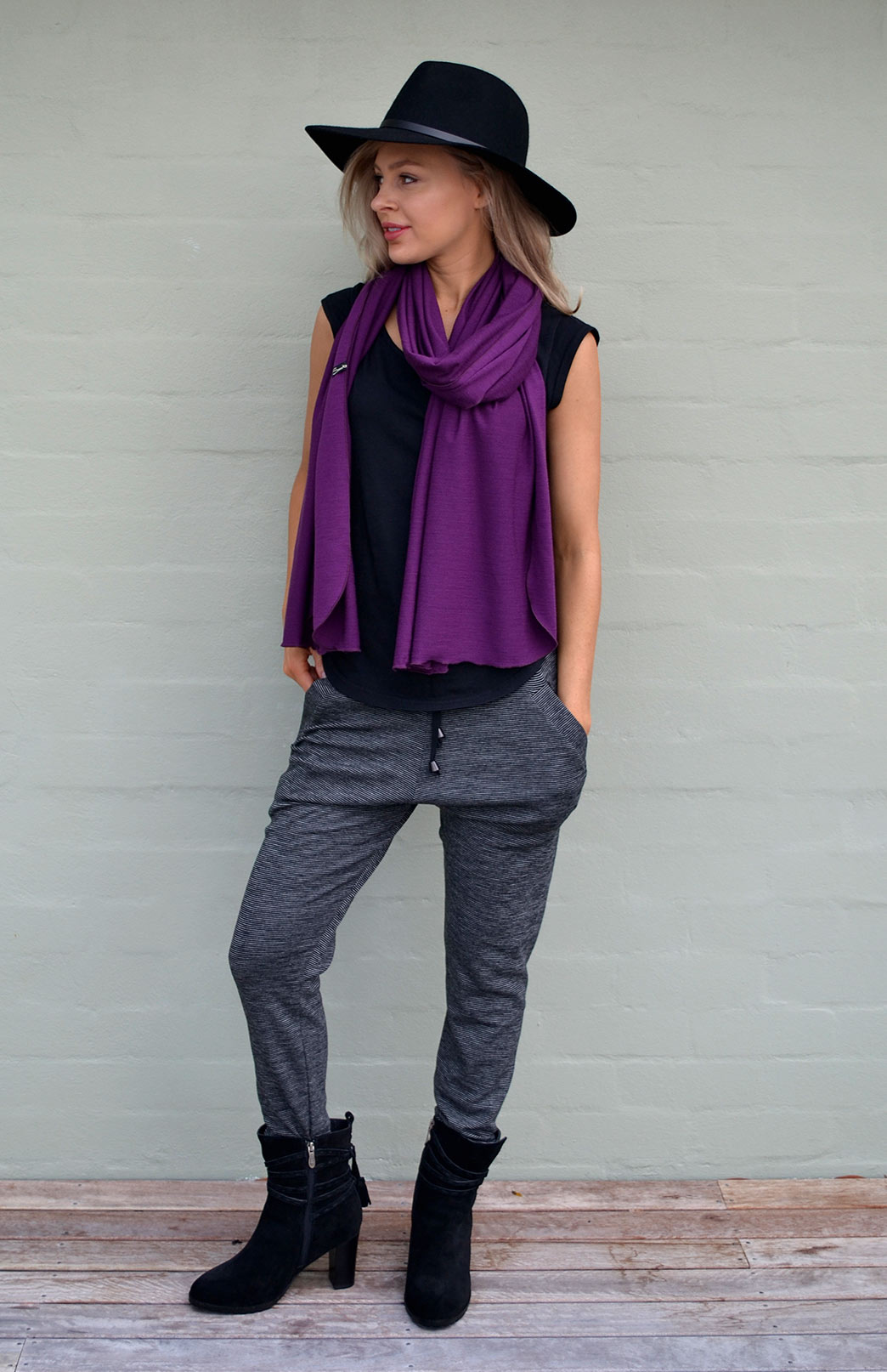 Wide Merino Scarf - Women's Superfine Merino Wool Classic Wide Scarf - Smitten Merino Tasmania Australia