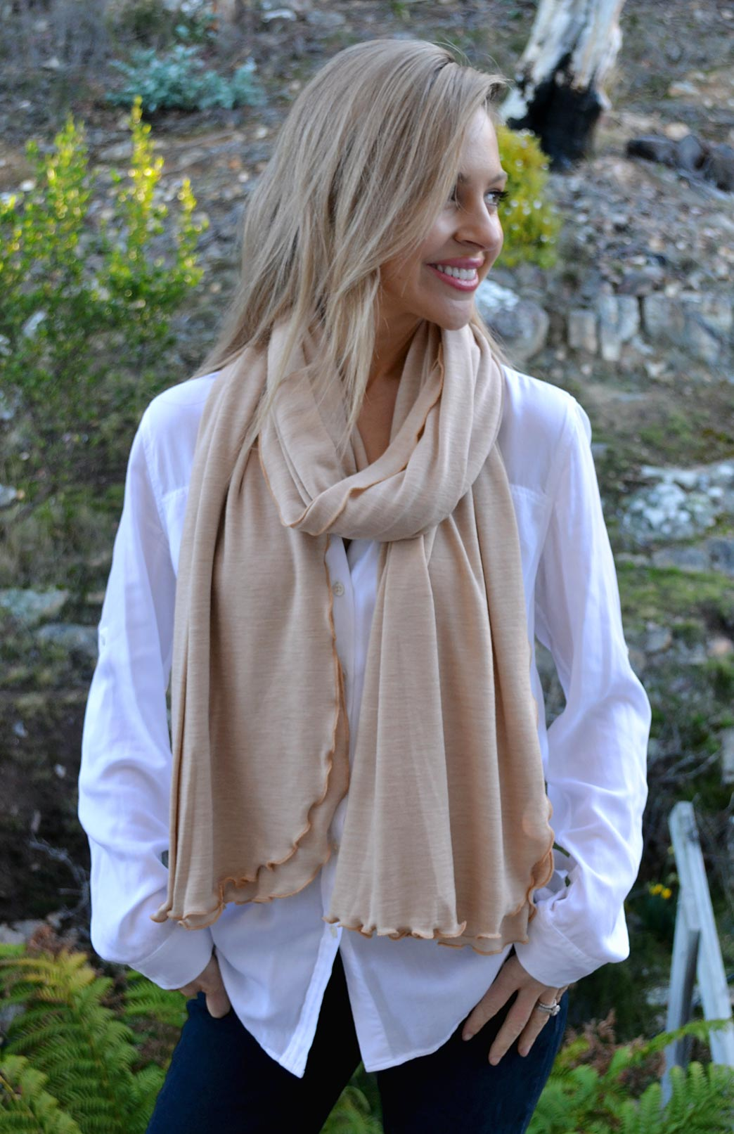 Heavyweight Wrap - Women's Superfine Merino Wool Heavyweight Wrap - Smitten Merino Tasmania Australia