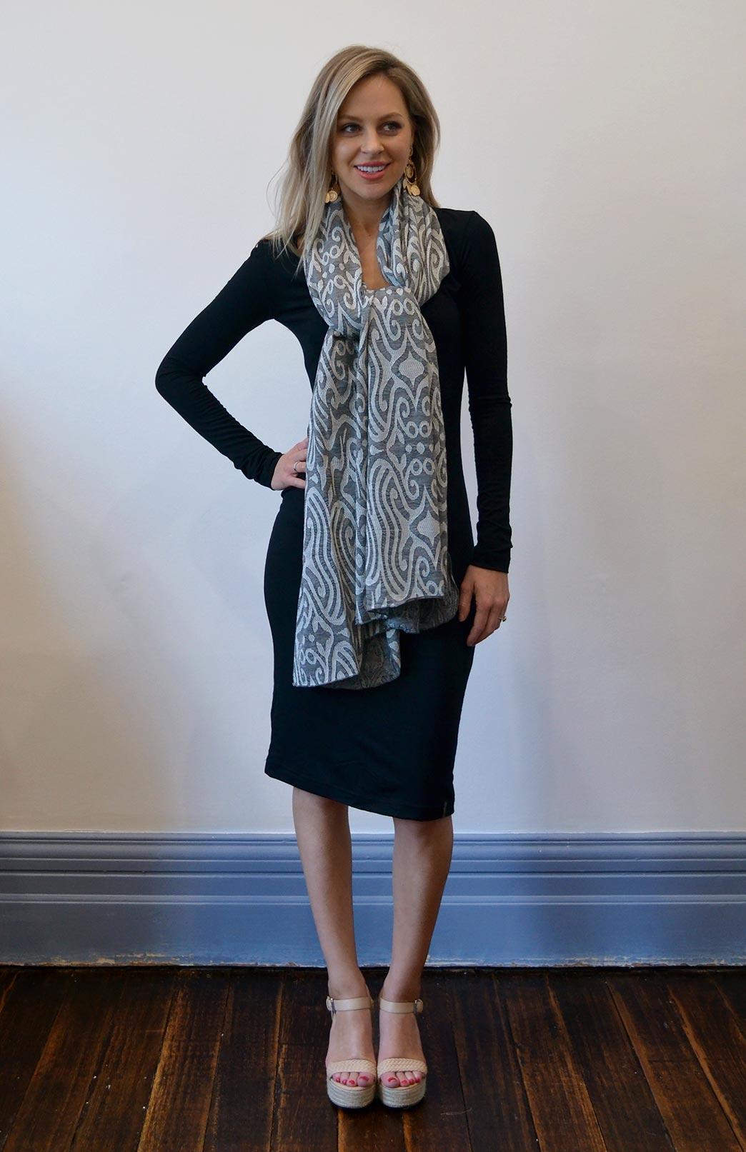 Patterned Wrap (Limited Edition) - Women's Superfine Merino Wool Patterned Wrap - Smitten Merino Tasmania Australia