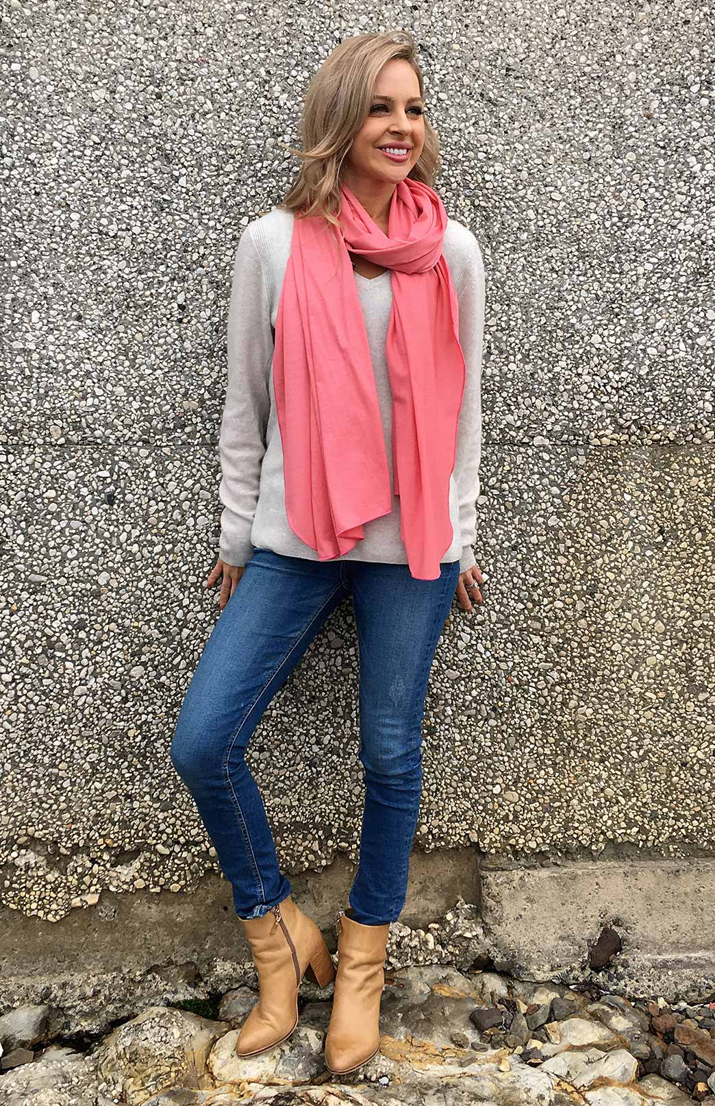 Scarves - Lightweight - Women's Superfine 100% Merino Wool Classic Wide Scarf - Smitten Merino Tasmania Australia