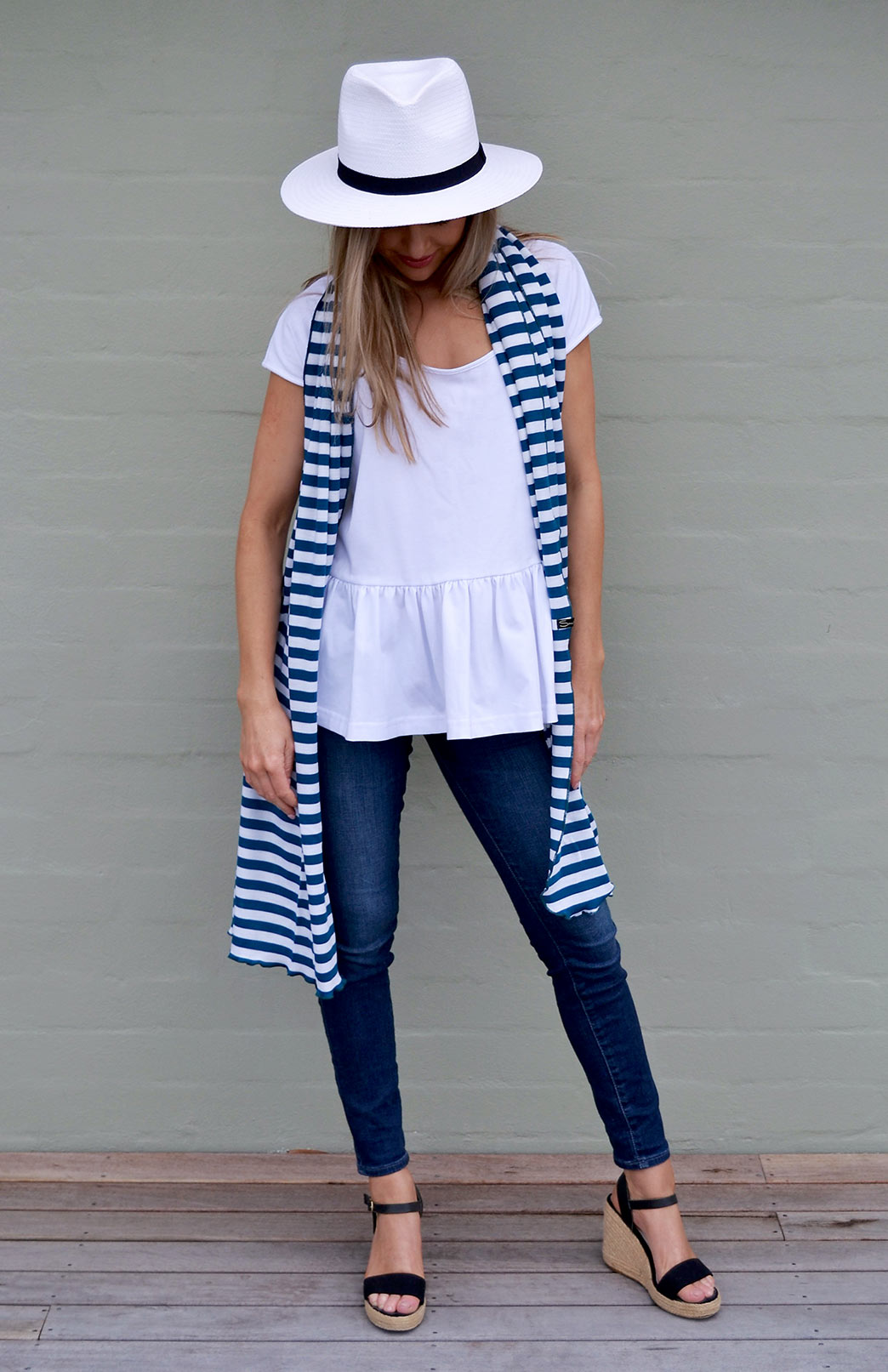 Merino Wool Scarf - Patterned - Women's Superfine Merino Wool Classic Wide Scarf - Smitten Merino Tasmania Australia