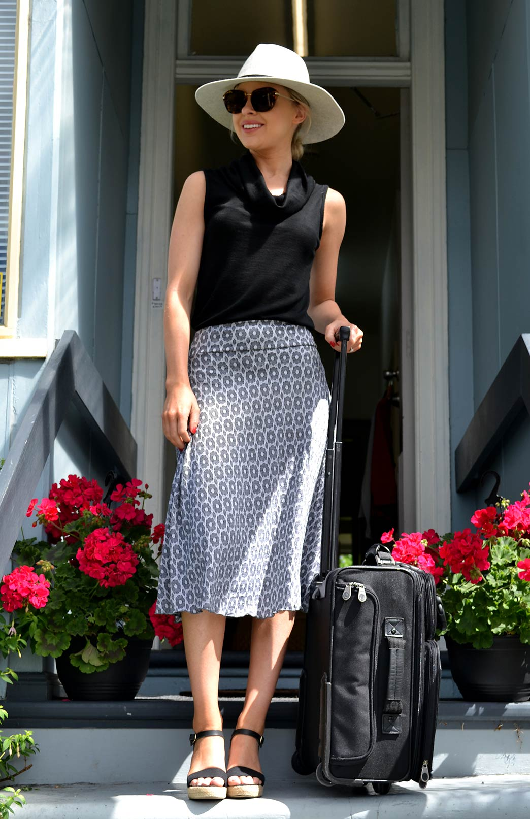 Twirl Skirt - Women's Black A-Line Swing Wool Skirt - Smitten Merino Tasmania Australia
