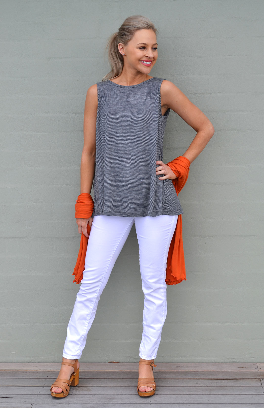 Flutter Top - Sleeveless - Women's Sleeveless Spring Summer Wool Top - Smitten Merino Tasmania Australia
