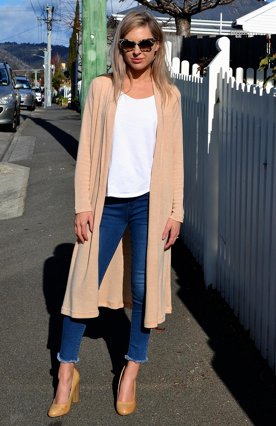 Long Drape Cardigan - Heavyweight - Women's Merino Wool Heavy Weight Long Drape Cardigan - Smitten Merino Tasmania Australia