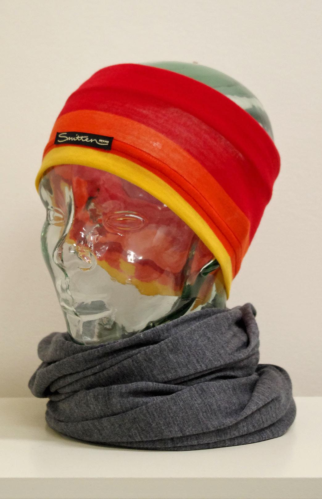 Headband / Ear Warmer - Unisex Bright Multi Merino Wool Headband and Ear Warmer - Smitten Merino Tasmania Australia