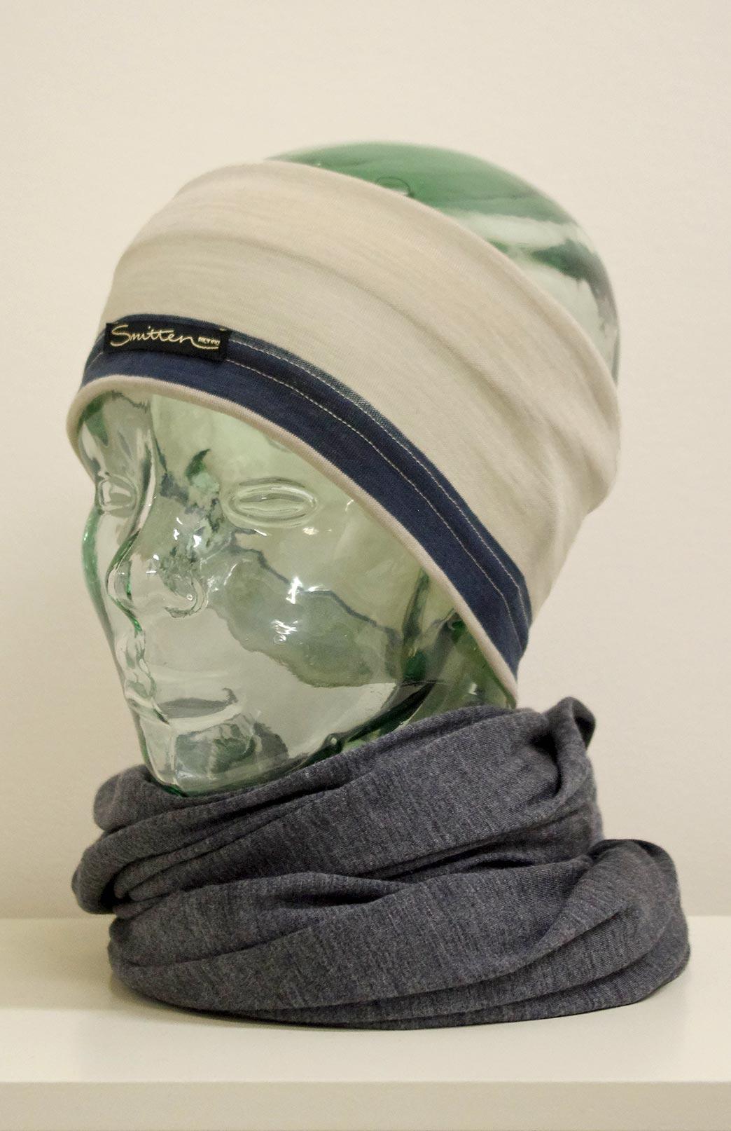 Headband / Ear Warmer - Unisex Ivory Multi Merino Wool Headband and Ear Warmer - Smitten Merino Tasmania Australia