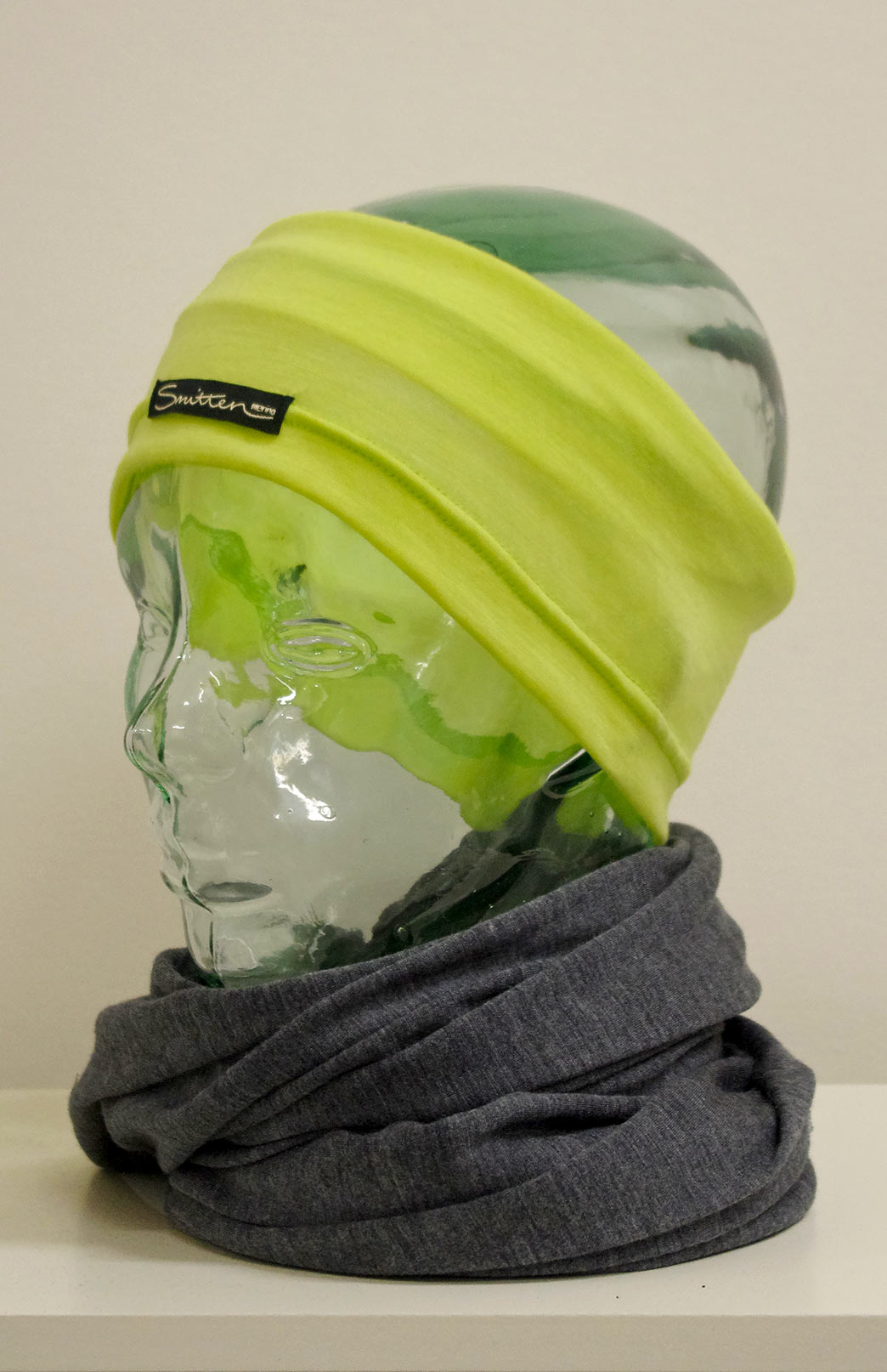 Headband / Ear Warmer - Unisex Chartreuse Lime Merino Wool Headband and Ear Warmer - Smitten Merino Tasmania Australia
