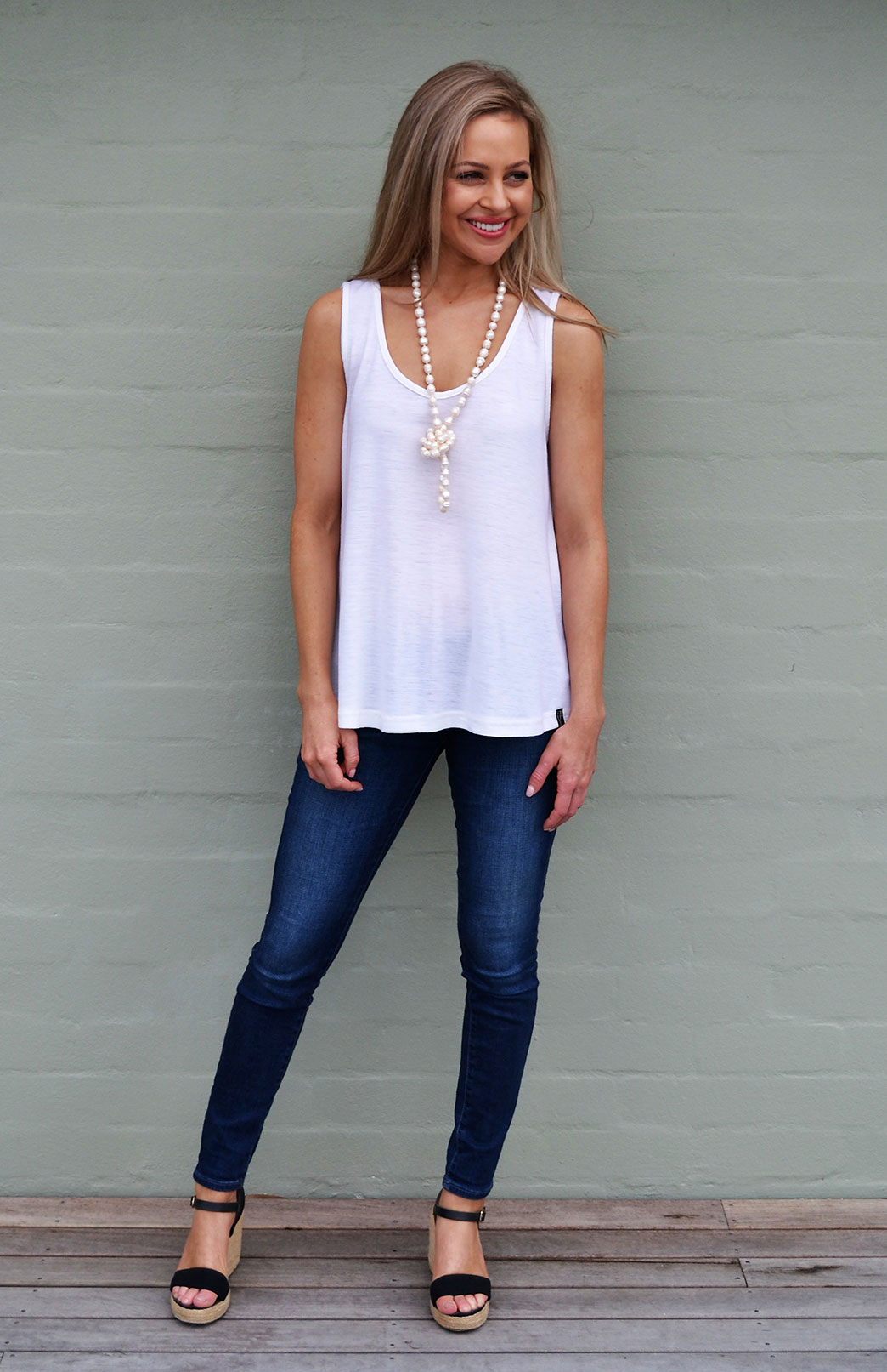 Tank Top in Ivory