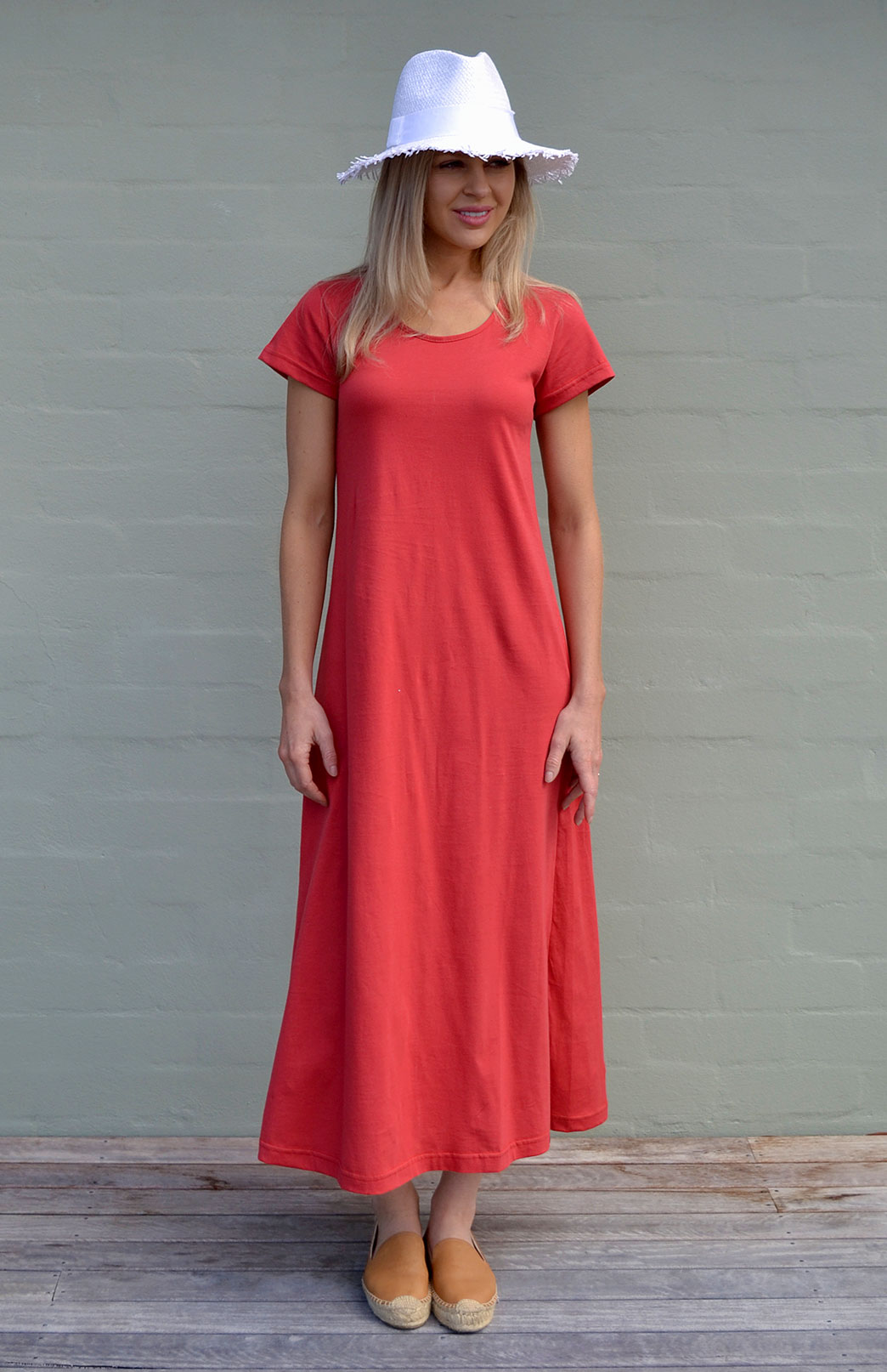 Organic Cotton T-Shirt Dress | Women's Ruby Red Organic ...