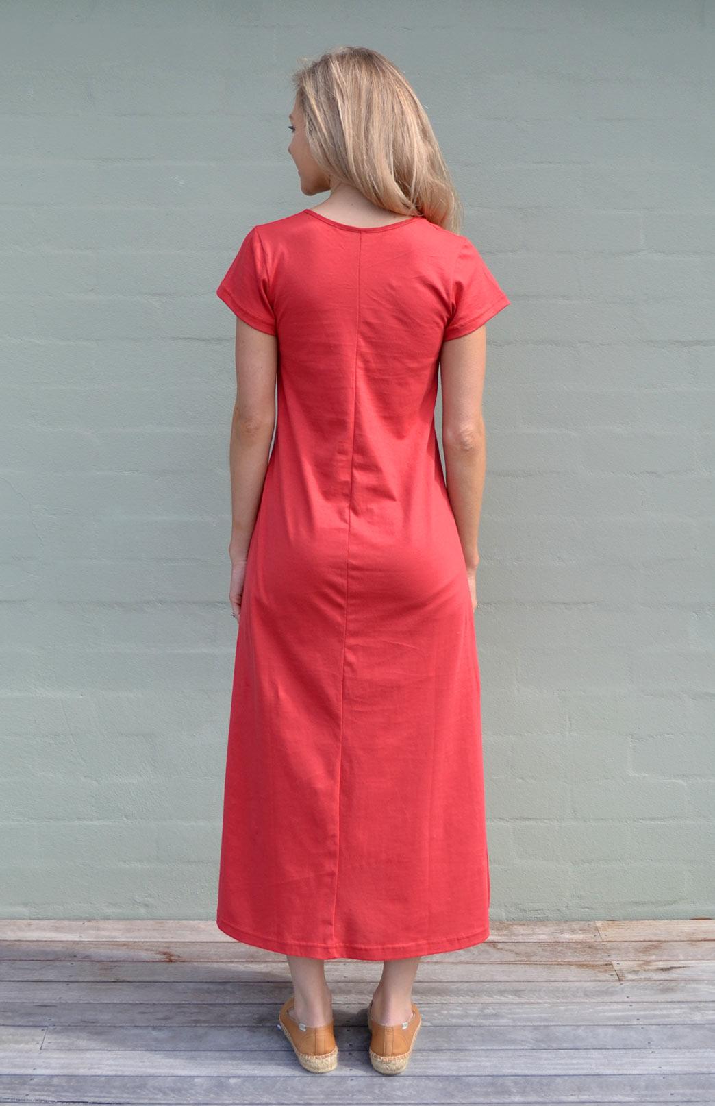 Organic Cotton T Shirt Dress Women S Ruby Red Organic