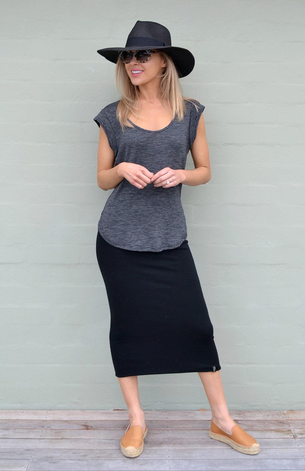 Long Tube Skirt Women S Long Black Merino Wool Winter