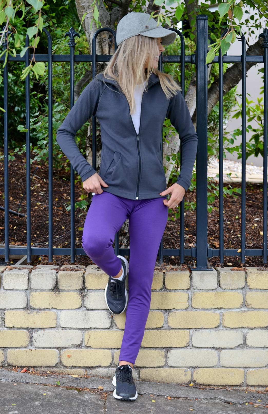 Zip Jacket - Heavyweight (360g) - Women's Merino Wool Steel Grey Zip Jacket with full zip and pockets - Smitten Merino Tasmania Australia