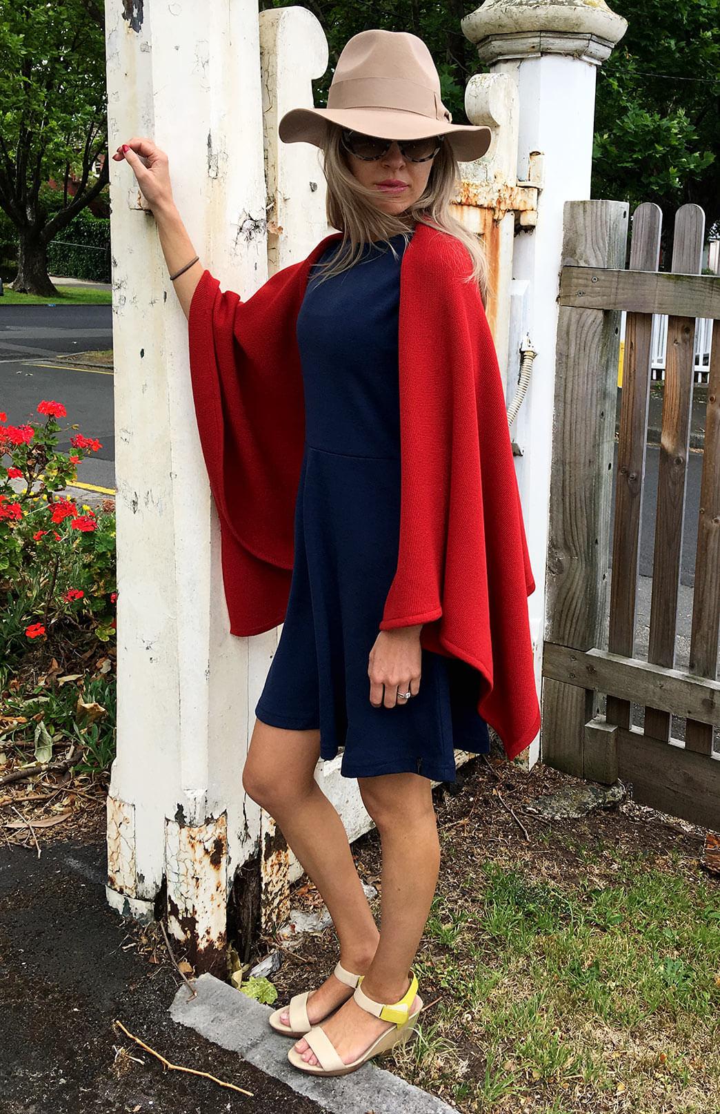 Chunky Merino Wool Sleeveless Wrap - Smitten Merino Tasmania Australia