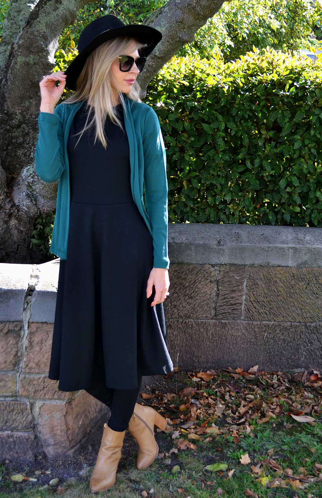 Mini Drape Cardigan - Women's Emerald Green Long Sleeve Merino Wool Cardigan - Smitten Merino Tasmania Australia