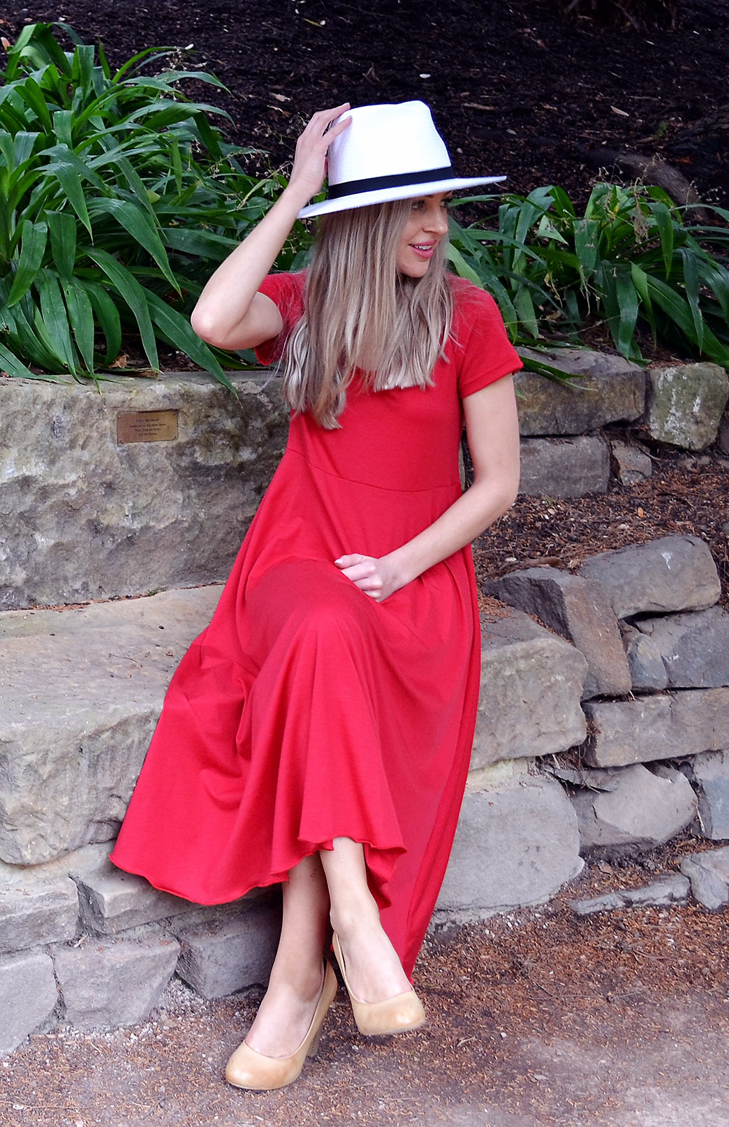 Carrie Dress (Flame; Size 6)