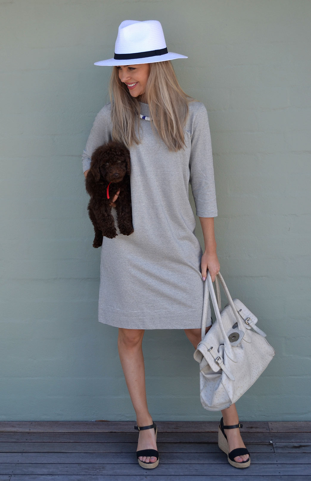 Audrey Dress - Organic Cotton - Women's Organic Cotton 3/4 Sleeve Summer Dress - Smitten Merino Tasmania Australia