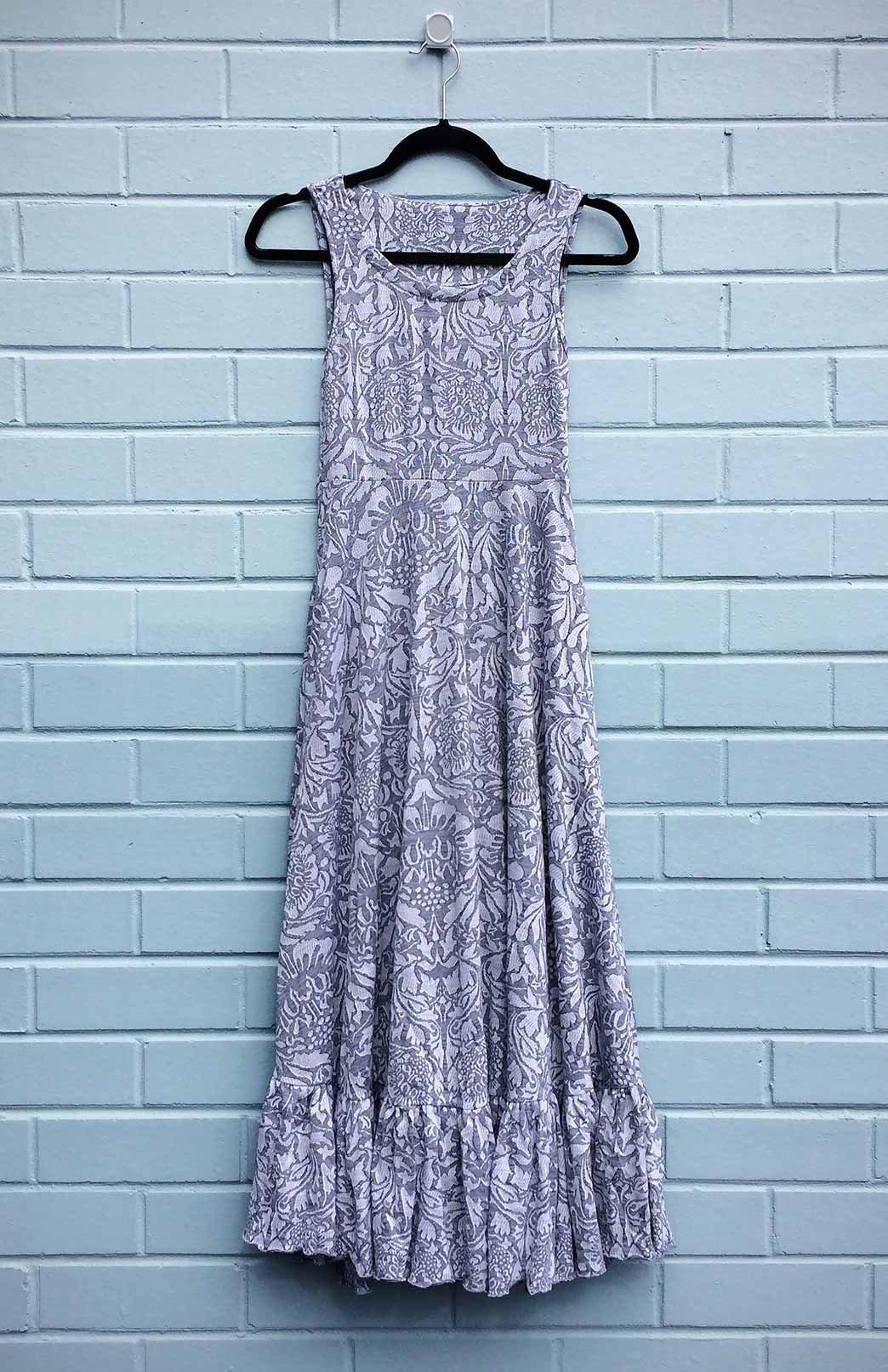 Fleur Maxi Dress - Women's Abbey Floral Patterned Merino Wool Sleeveless Summer Maxi Dress - Smitten Merino Tasmania Australia