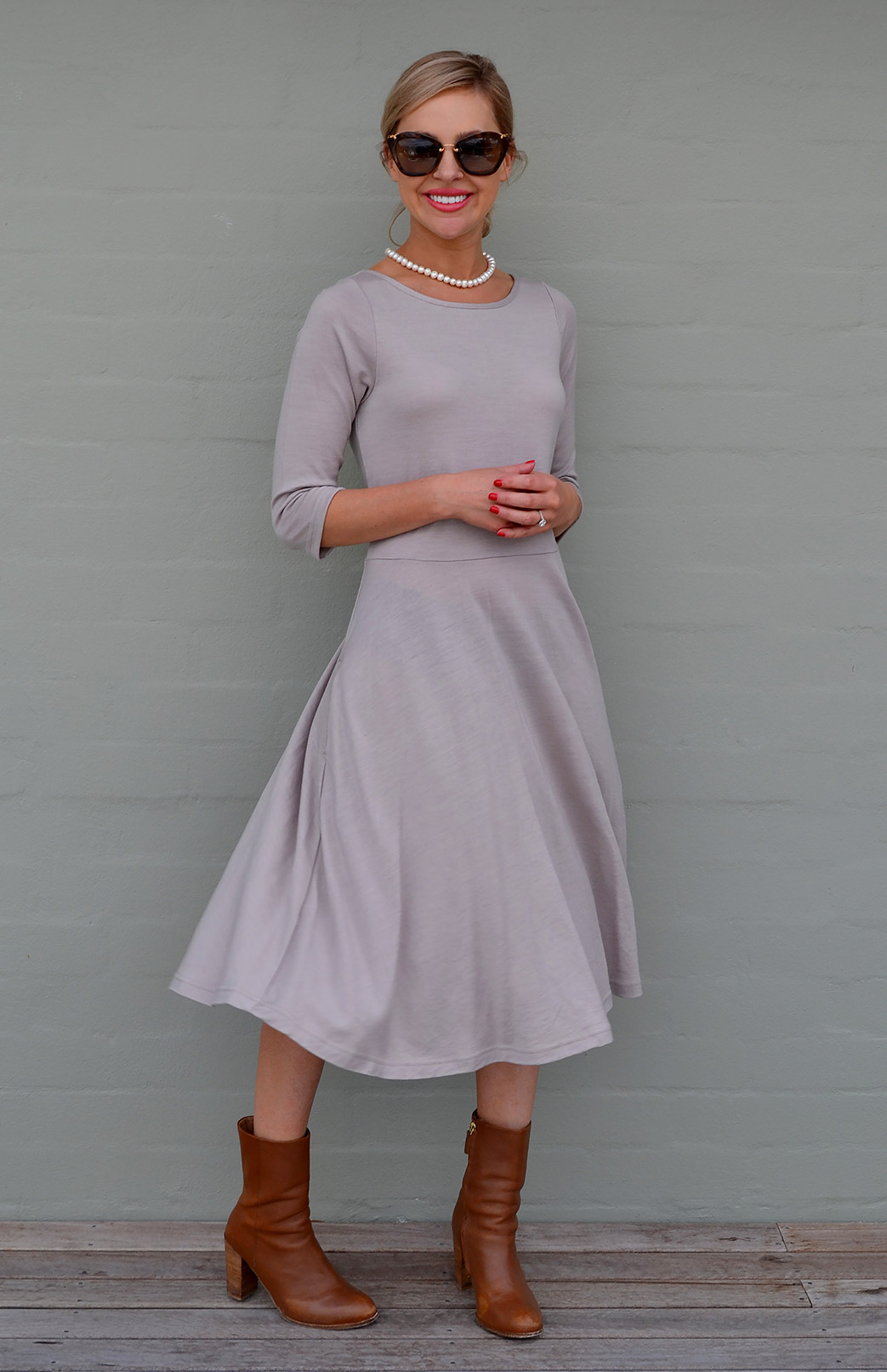Mary Dress - Women's Stunning Merino Wool Classic Dress - Smitten Merino Tasmania Australia