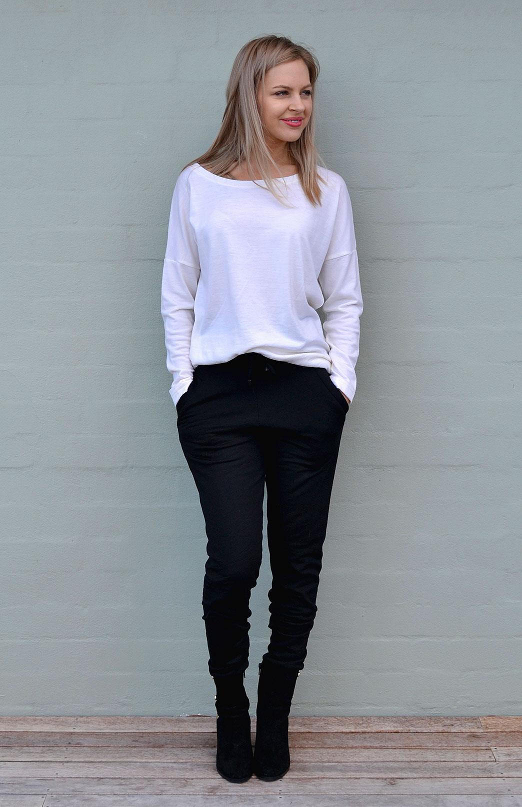 Fleece Lounge Pants Women S Black Wool Fleece Lined