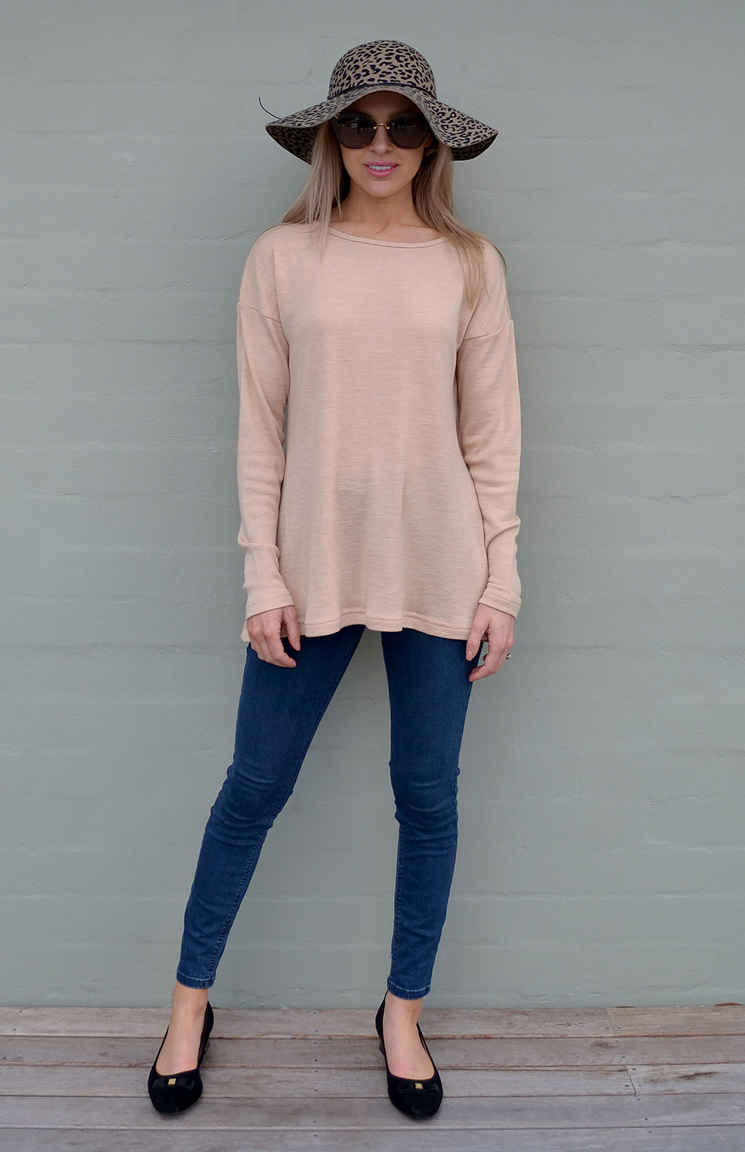 Ella Boat Neck Top - Women's Long Sleeve Boat Neck Top - Smitten Merino Tasmania Australia