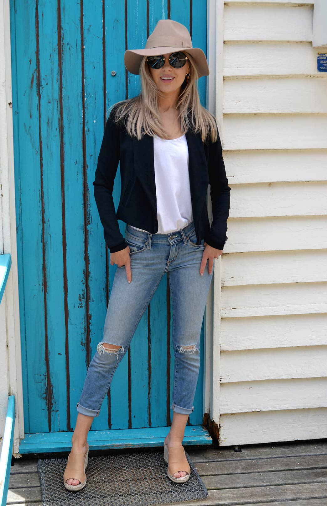 Lapel Jacket - Heavyweight - Women's Black Wool Lapel Jacket with side pockets and long sleeves - Smitten Merino Tasmania Australia