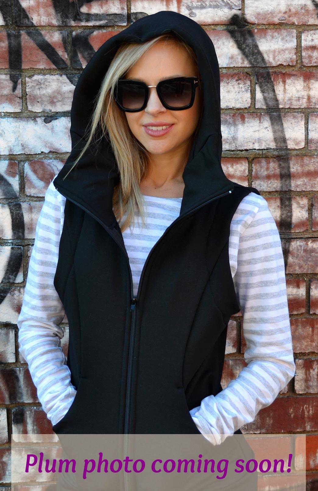 Fitted Fleece Vest with Hood - Women's Fitted Merino Wool Fleece Vest with Deep Pockets and Double Layer Hood - Smitten Merino Tasmania Australia