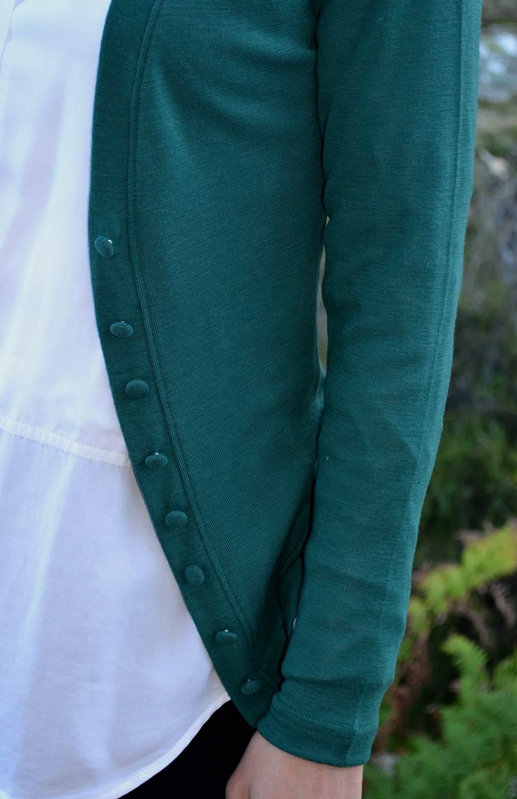 Annie Cardigan Women S Emerald Green Long Sleeve