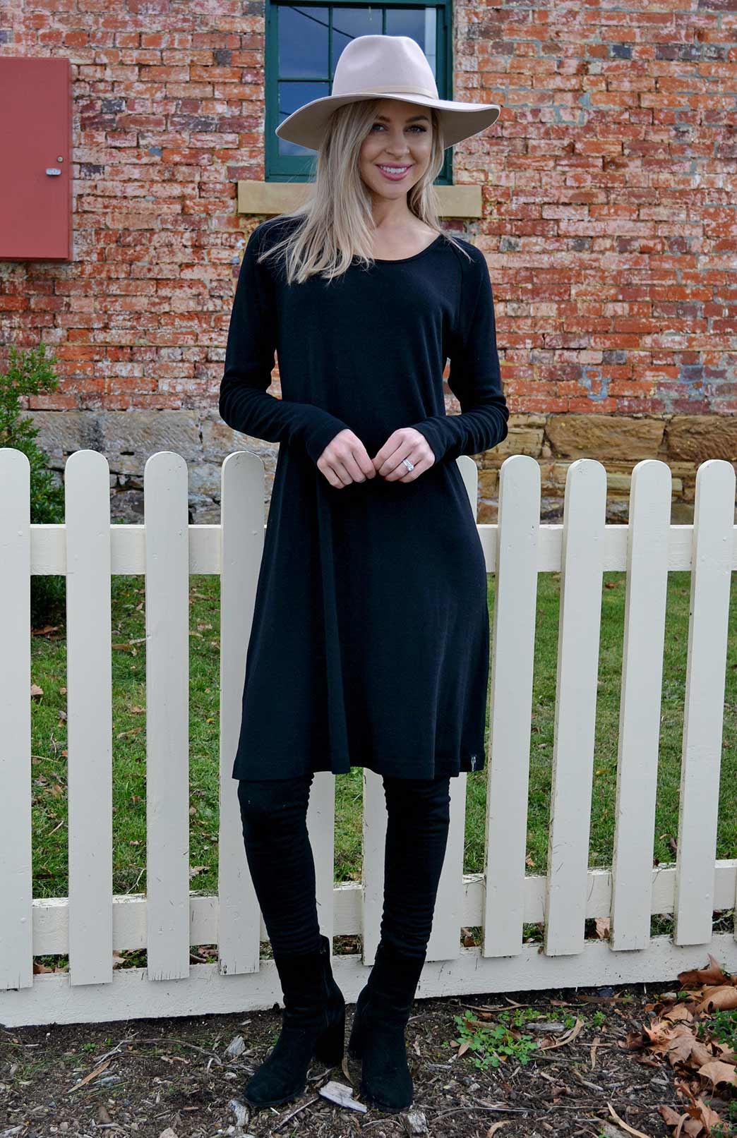 Rhianna Dress Women S Black Long Sleeved Australian