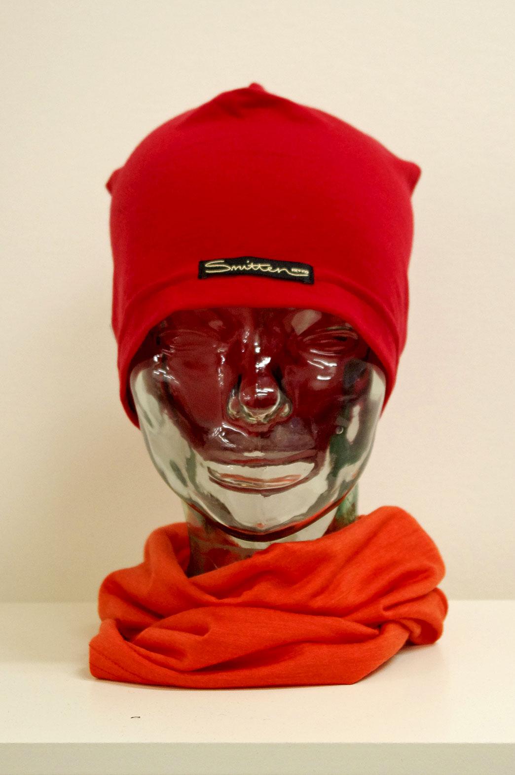 Beanie - Lightweight Skull Cap - Unisex Flame Red Lightweight Merino Wool Skull Cap Beanie - Smitten Merino Tasmania Australia