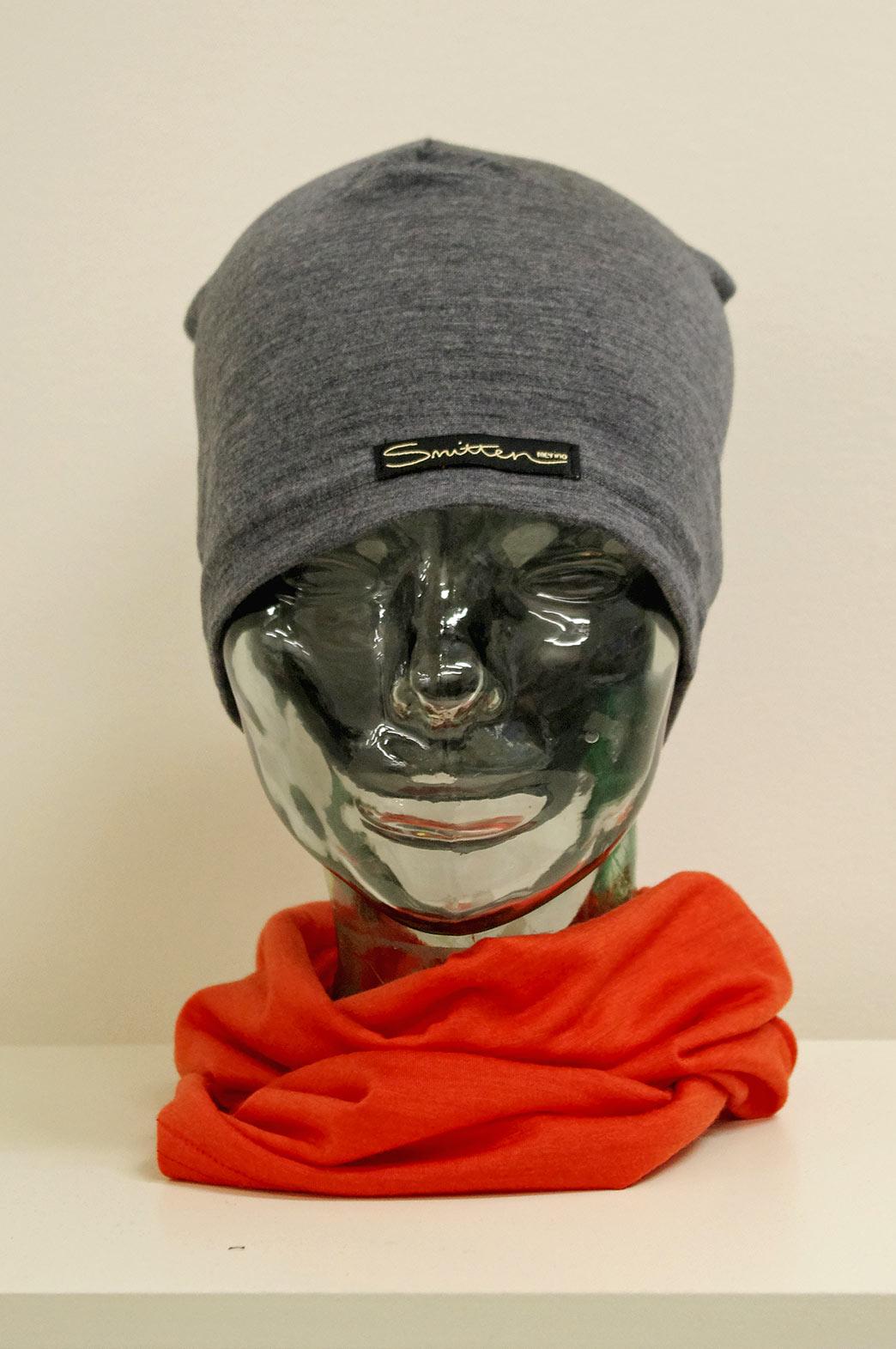 Beanie - Lightweight Skull Cap - Unisex Grey Marl Lightweight Merino Wool Skull Cap Beanie - Smitten Merino Tasmania Australia
