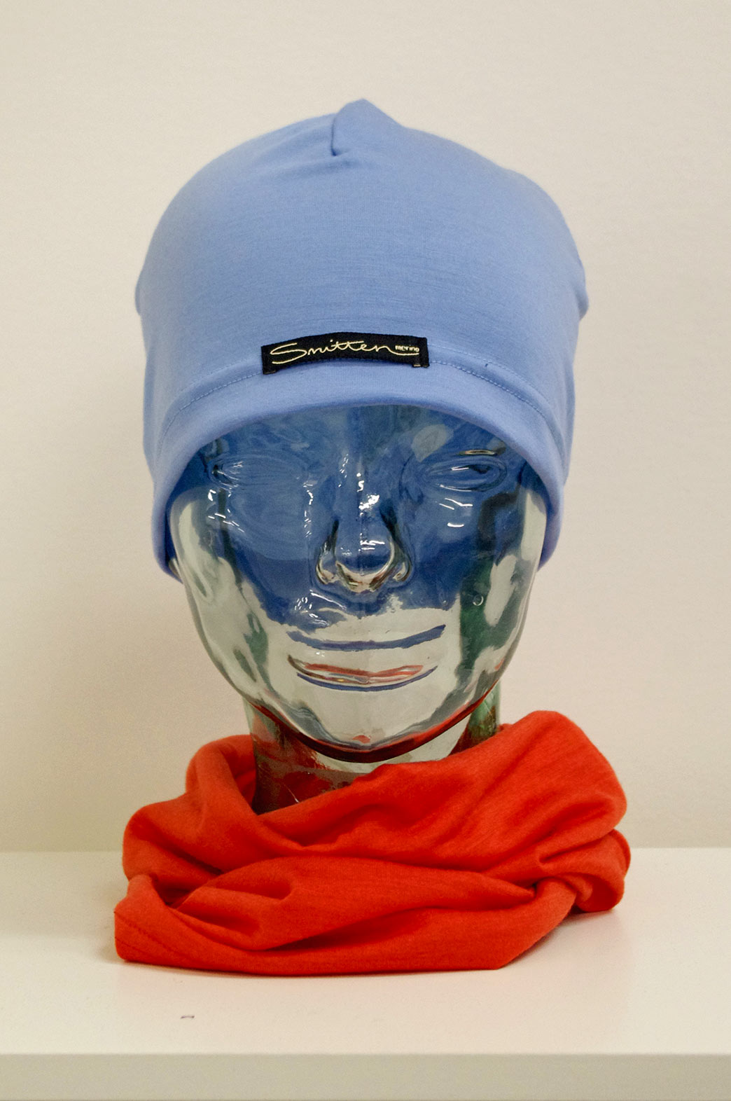 Beanie - Lightweight Skull Cap - Unisex Light Blue Lightweight Merino Wool Skull Cap Beanie - Smitten Merino Tasmania Australia
