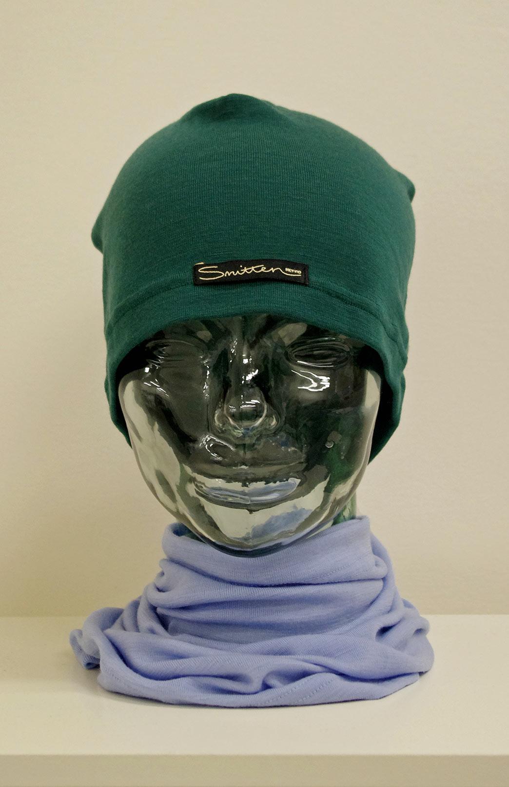 Beanie - Mid-weight Loose Fit Skull Cap - Unisex Emerald Green Merino Wool Loose Fit Beanie Skull Cap - Smitten Merino Tasmania Australia