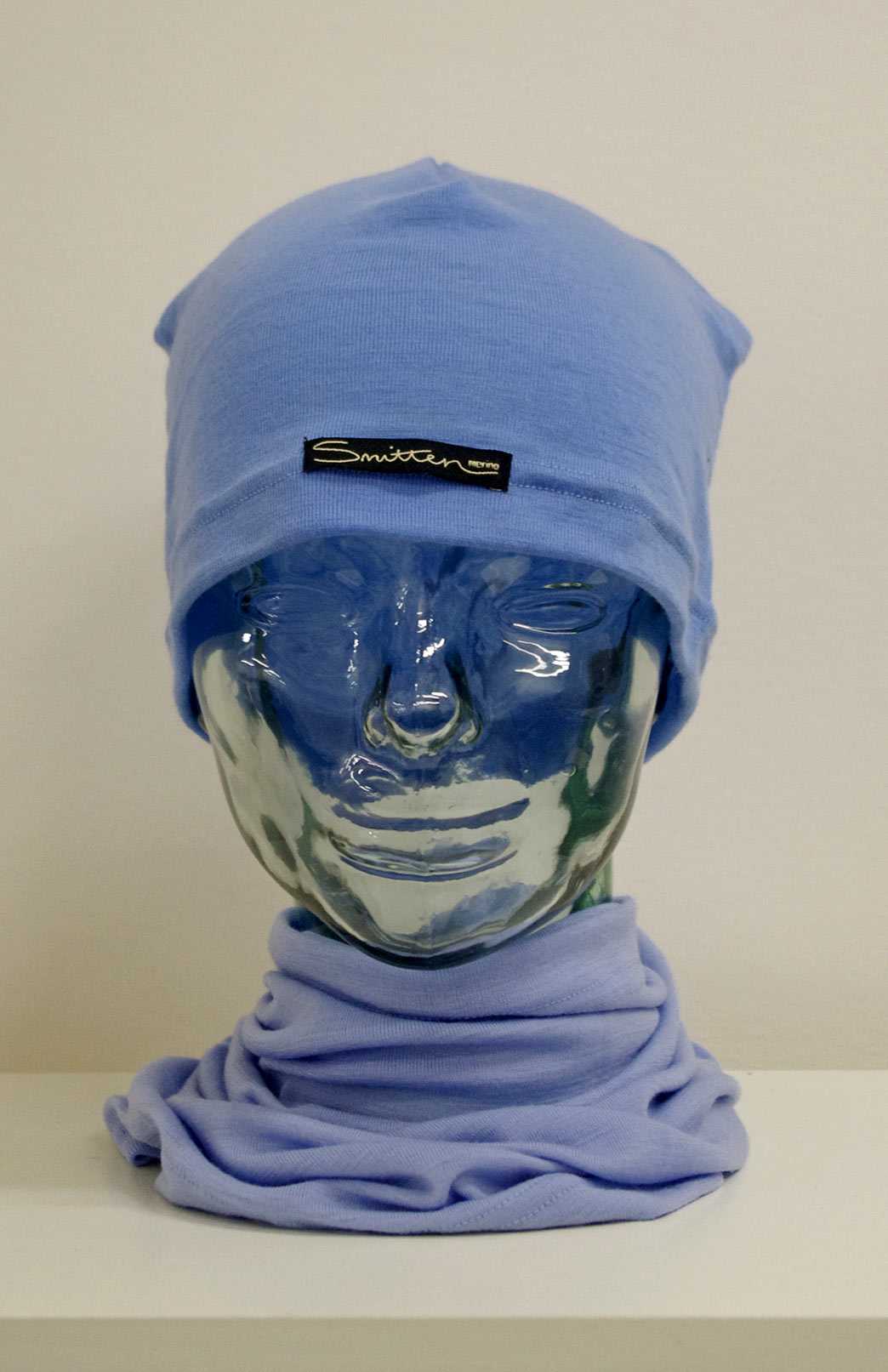 Beanie - Mid-weight Loose Fit Skull Cap - Unisex Light Blue Merino Wool Loose Fit Beanie Skull Cap - Smitten Merino Tasmania Australia